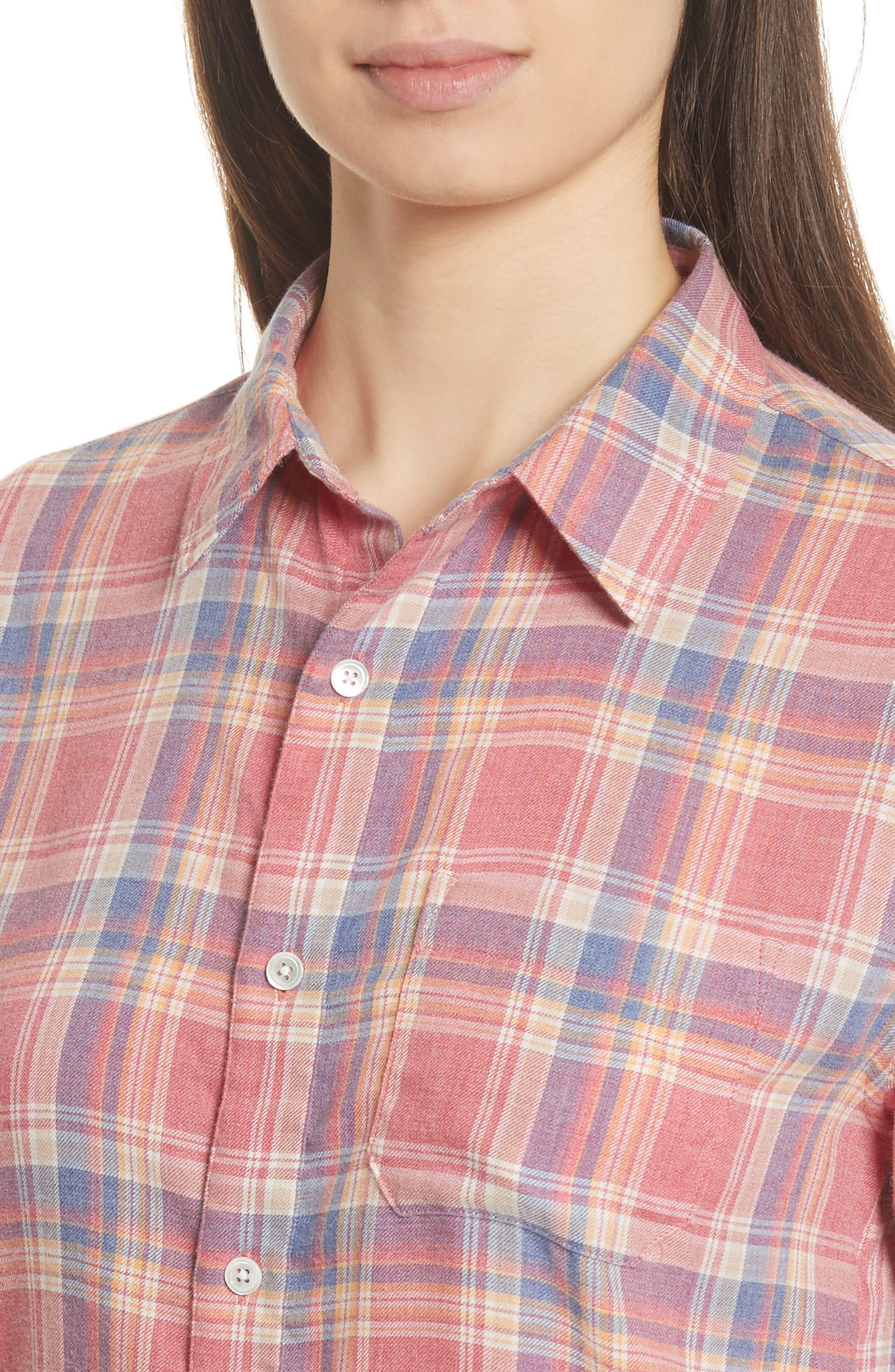 True Plaid Shirt,                             Alternate thumbnail 4, color,                             601