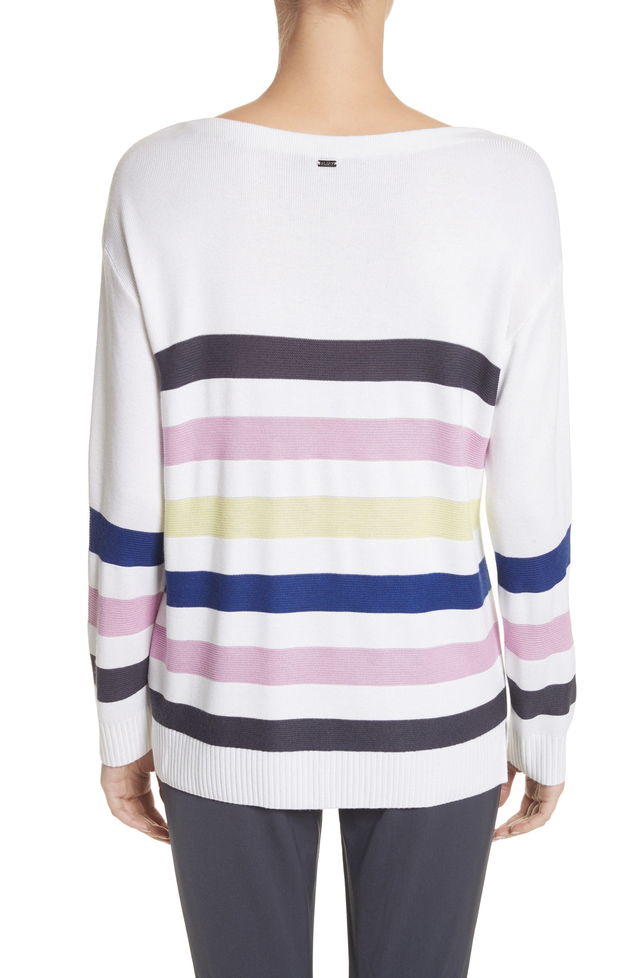 Links Stripe Knit Sweater,                             Alternate thumbnail 2, color,                             100
