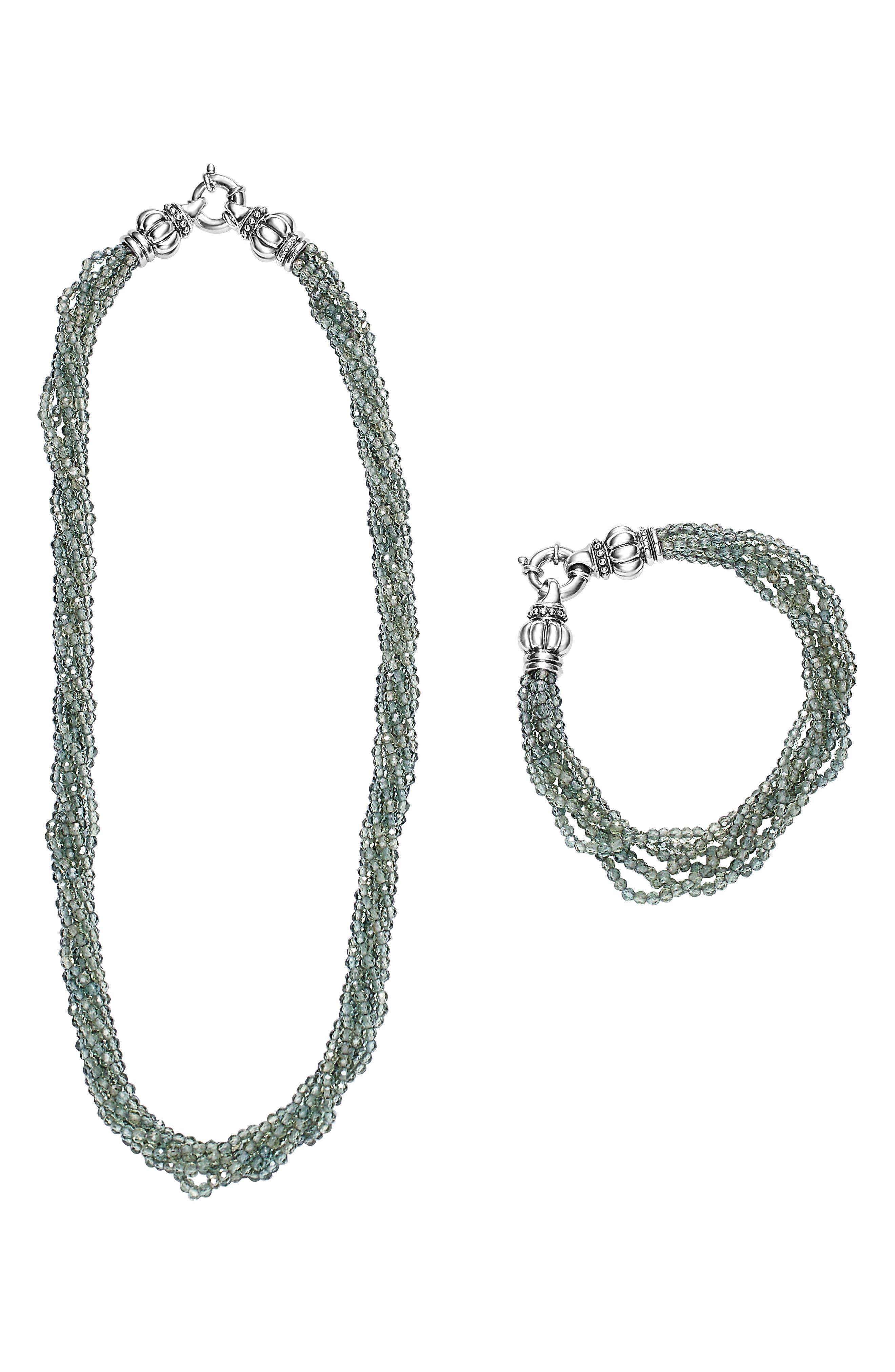 Caviar Icon Bead Convertible Bracelet & Necklace,                             Alternate thumbnail 3, color,                             040
