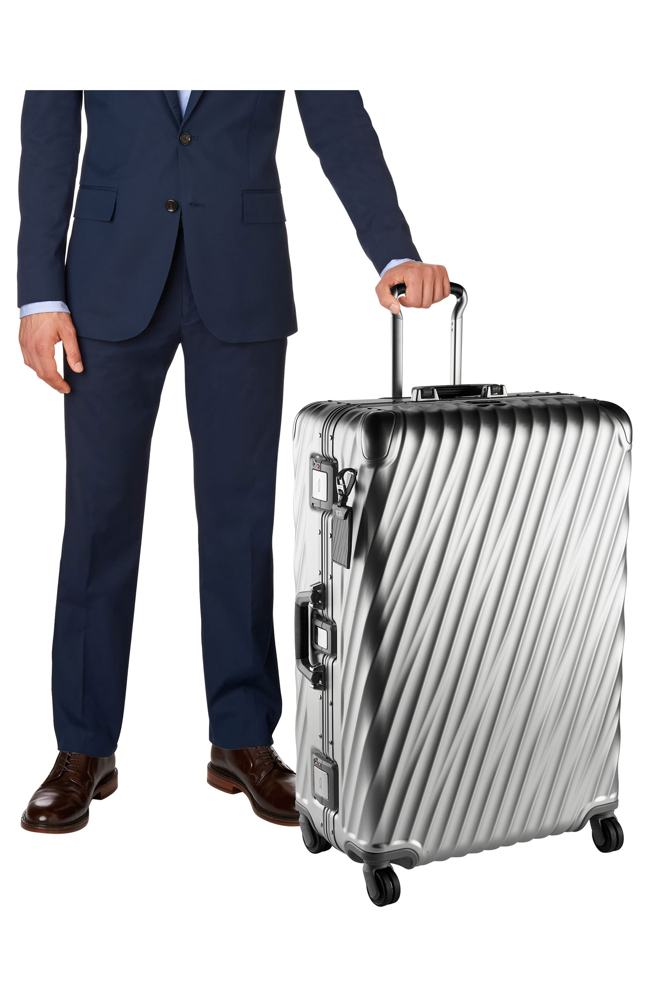 TUMI,                             19 Degree 31-Inch Extended Trip Wheeled Aluminum Packing Case,                             Alternate thumbnail 7, color,                             SILVER