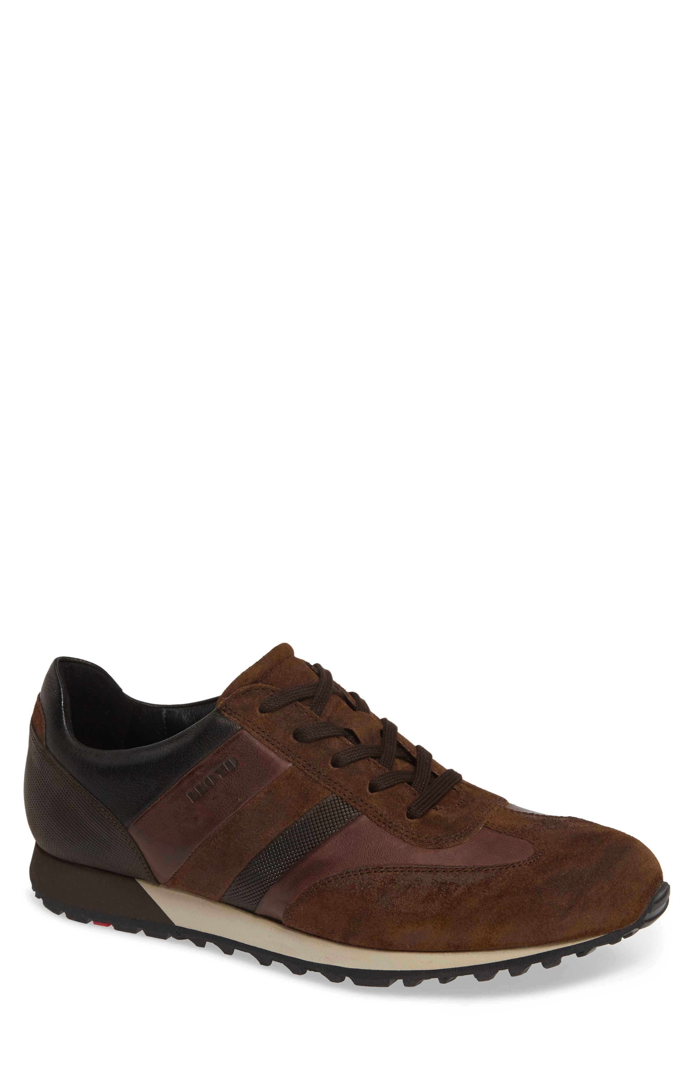 Agon Sneaker,                             Main thumbnail 1, color,                             CHOCOLATE SUEDE
