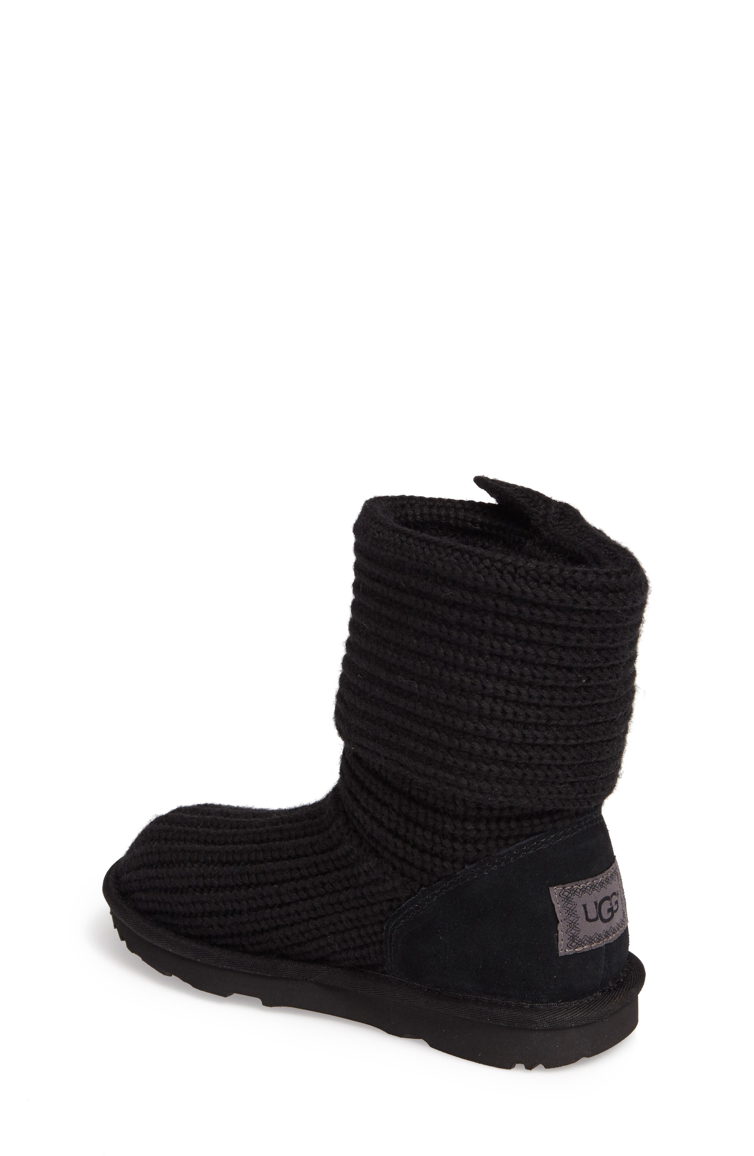 Cardy II Cableknit Boot,                             Alternate thumbnail 2, color,                             BLACK