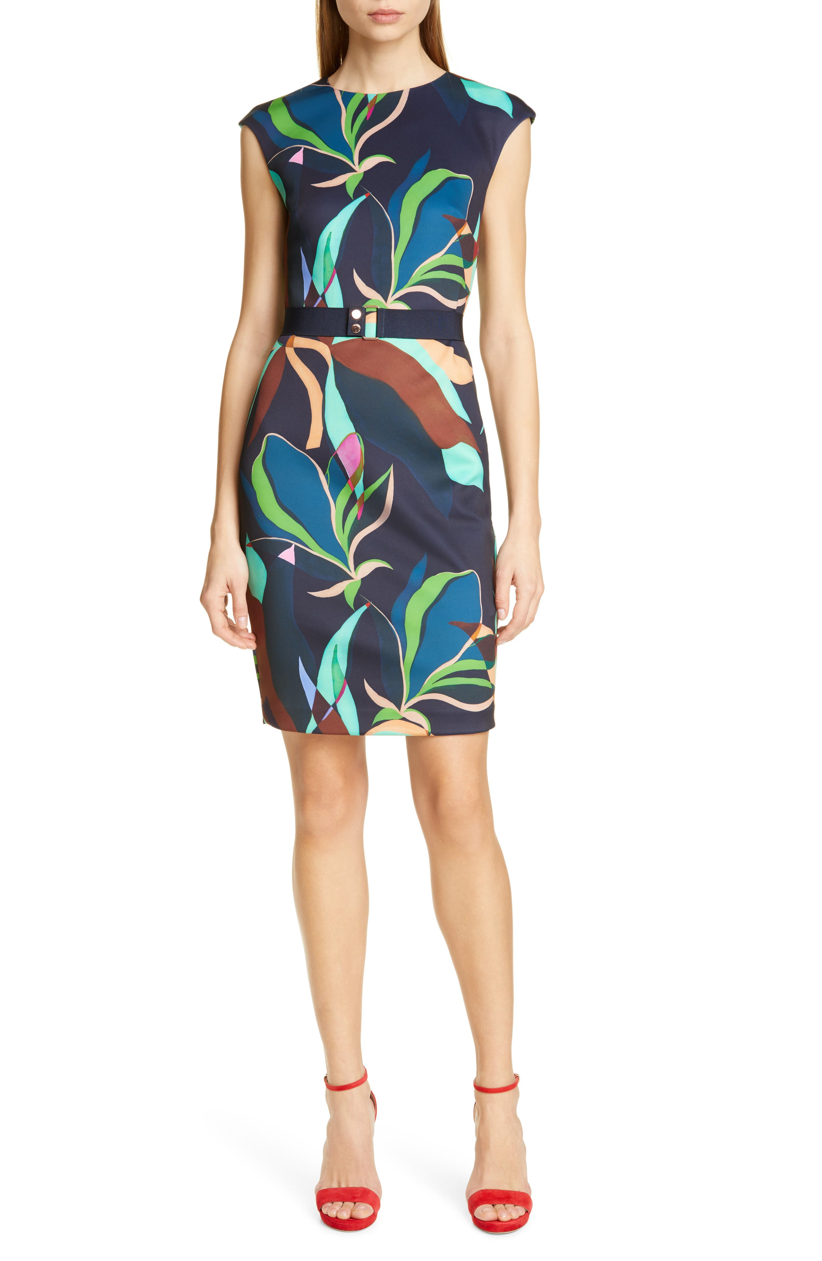 Ted Baker London Adilyyn Supernatural Structure Body-Con Dress, Blue