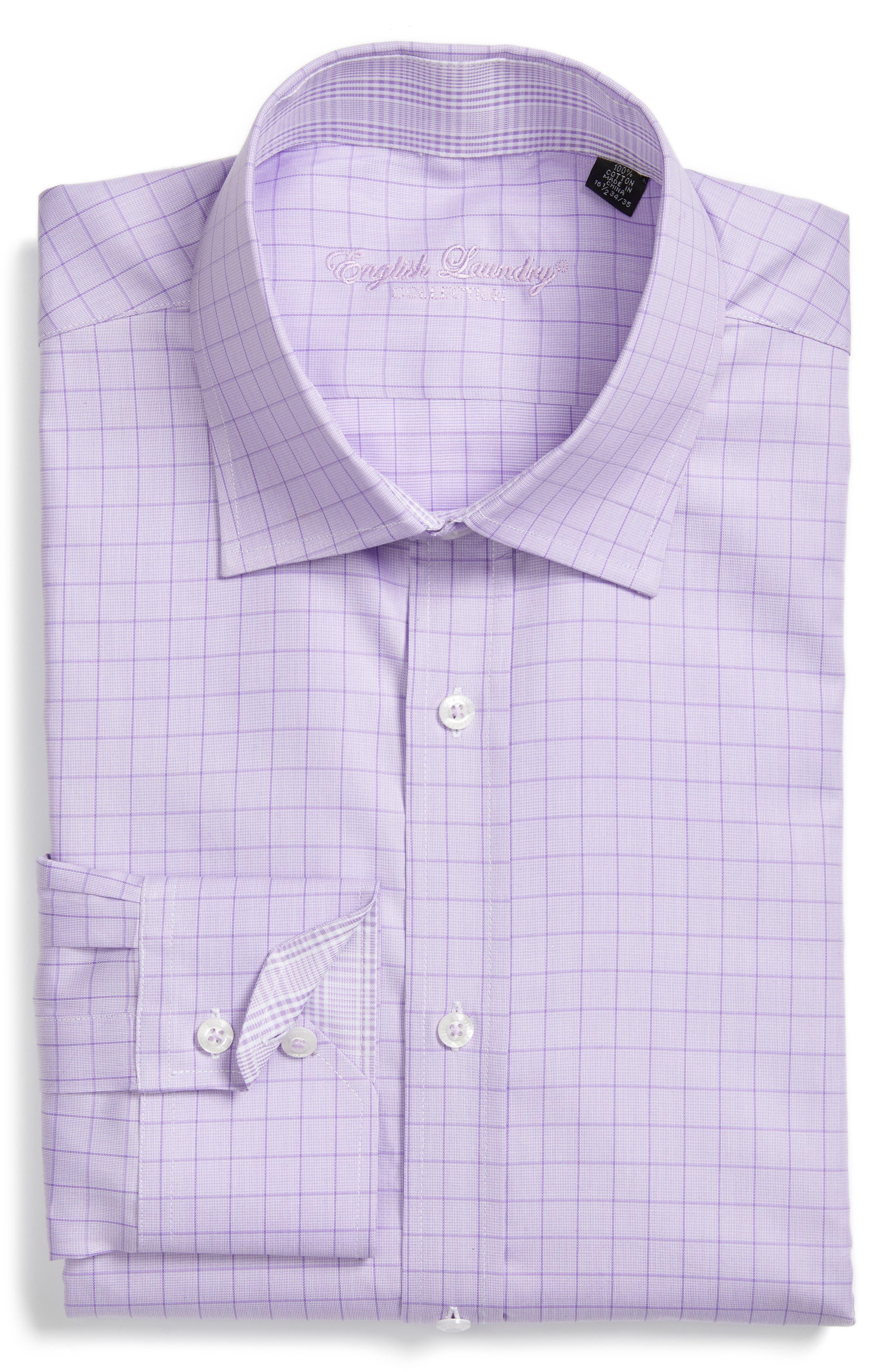 Trim Fit Check Dress Shirt,                             Main thumbnail 1, color,                             540
