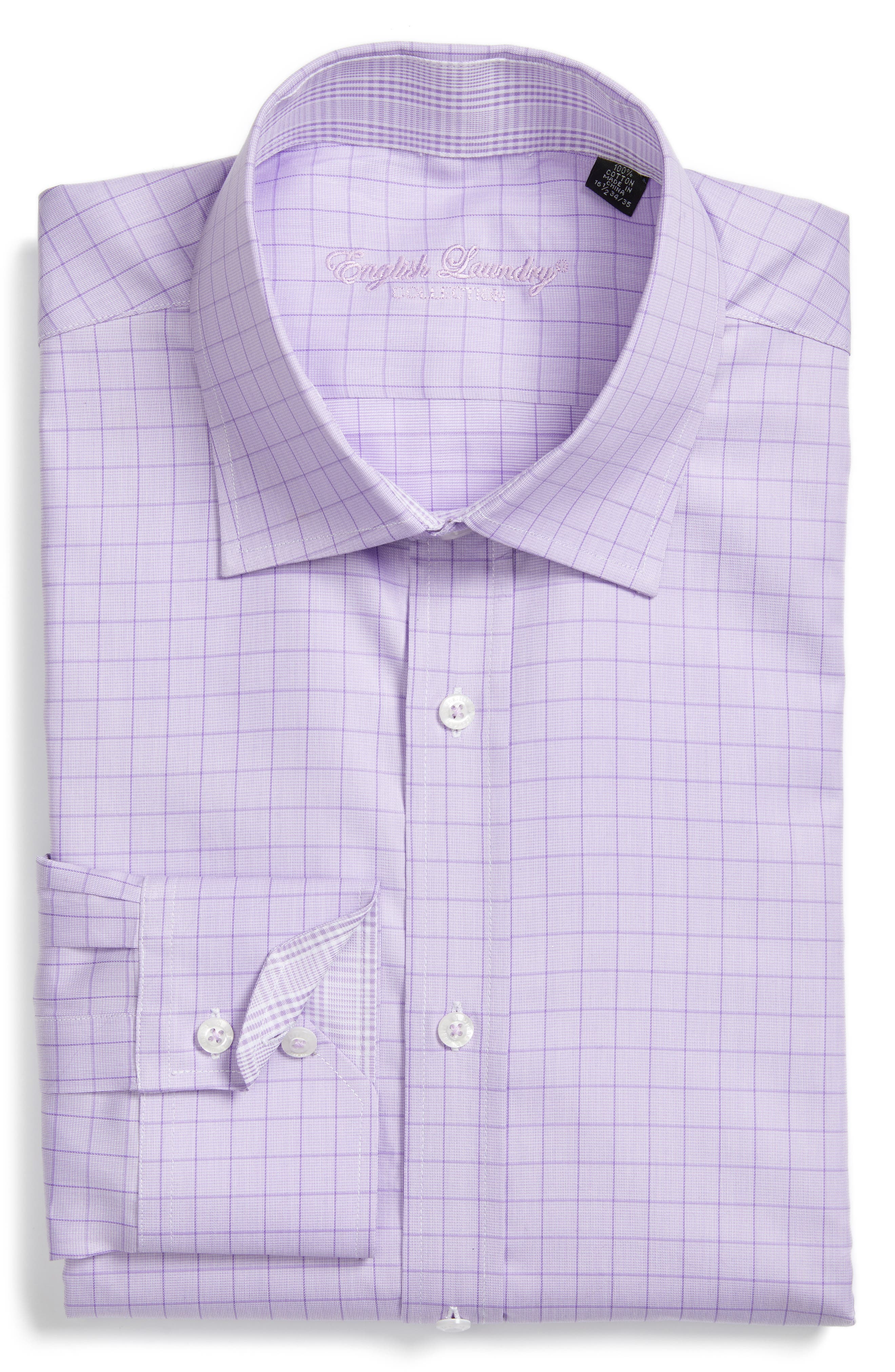 Trim Fit Check Dress Shirt,                         Main,                         color, 540