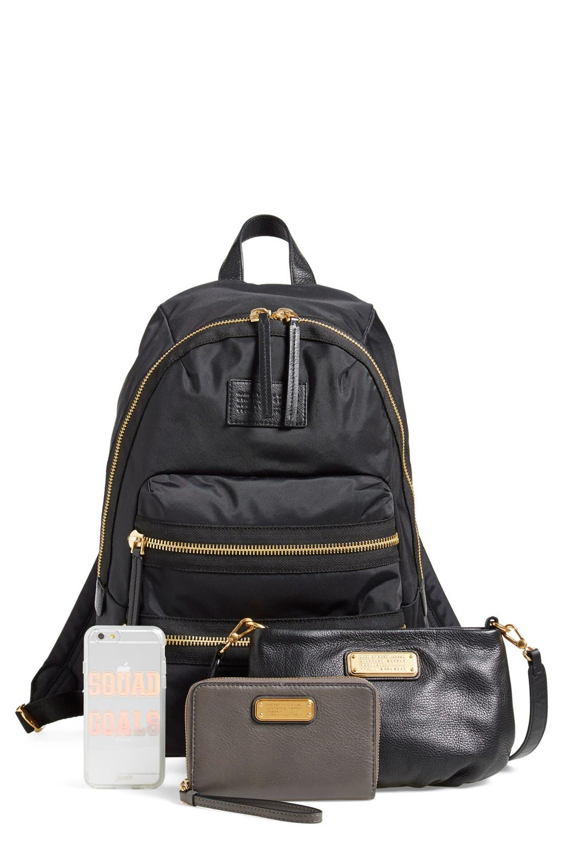 MARC BY MARC JACOBS 'Domo Arigato Packrat' Backpack,                             Alternate thumbnail 4, color,                             001