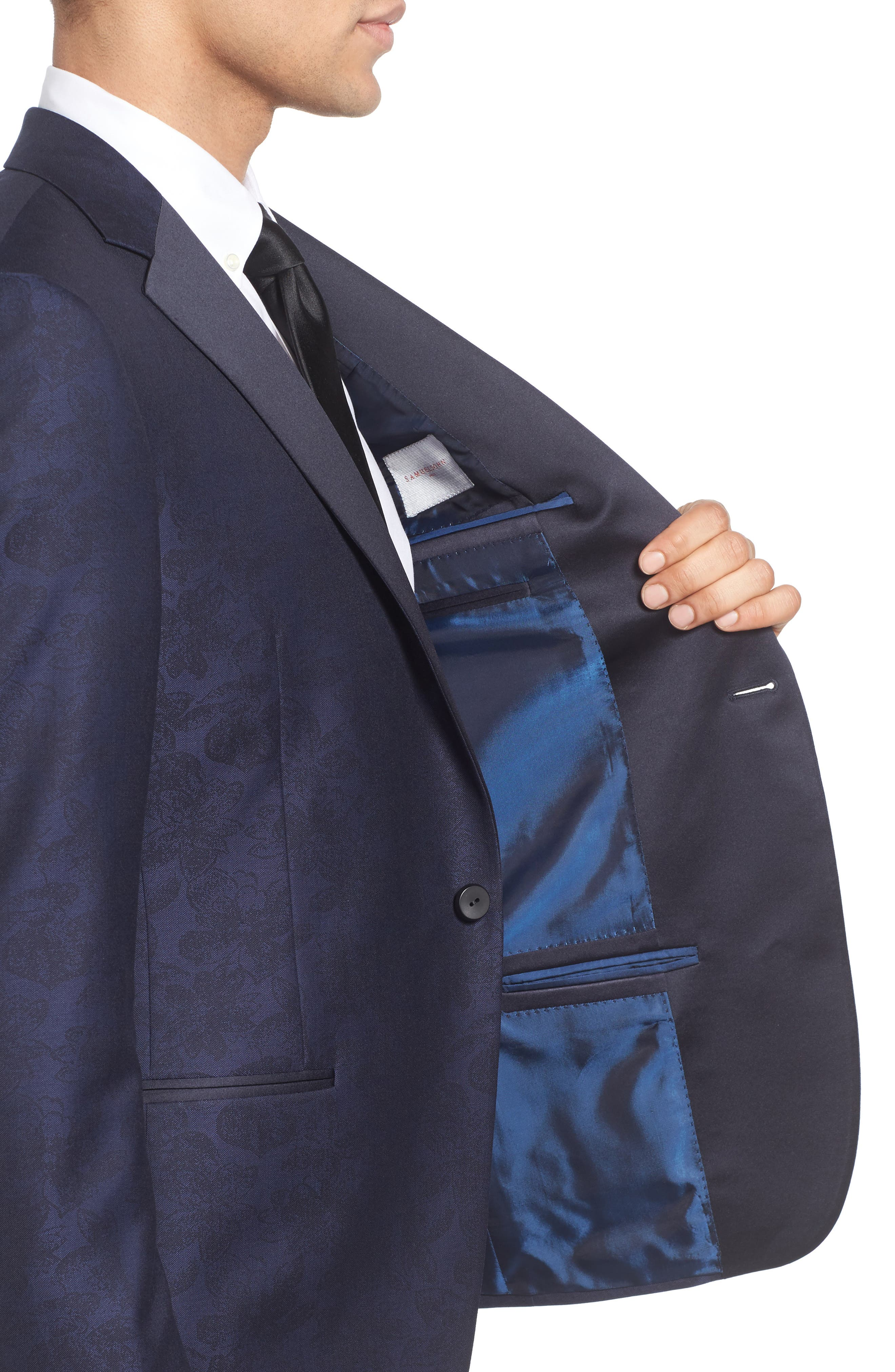Classic Fit Wool & Cotton Dinner Jacket,                             Alternate thumbnail 4, color,                             410