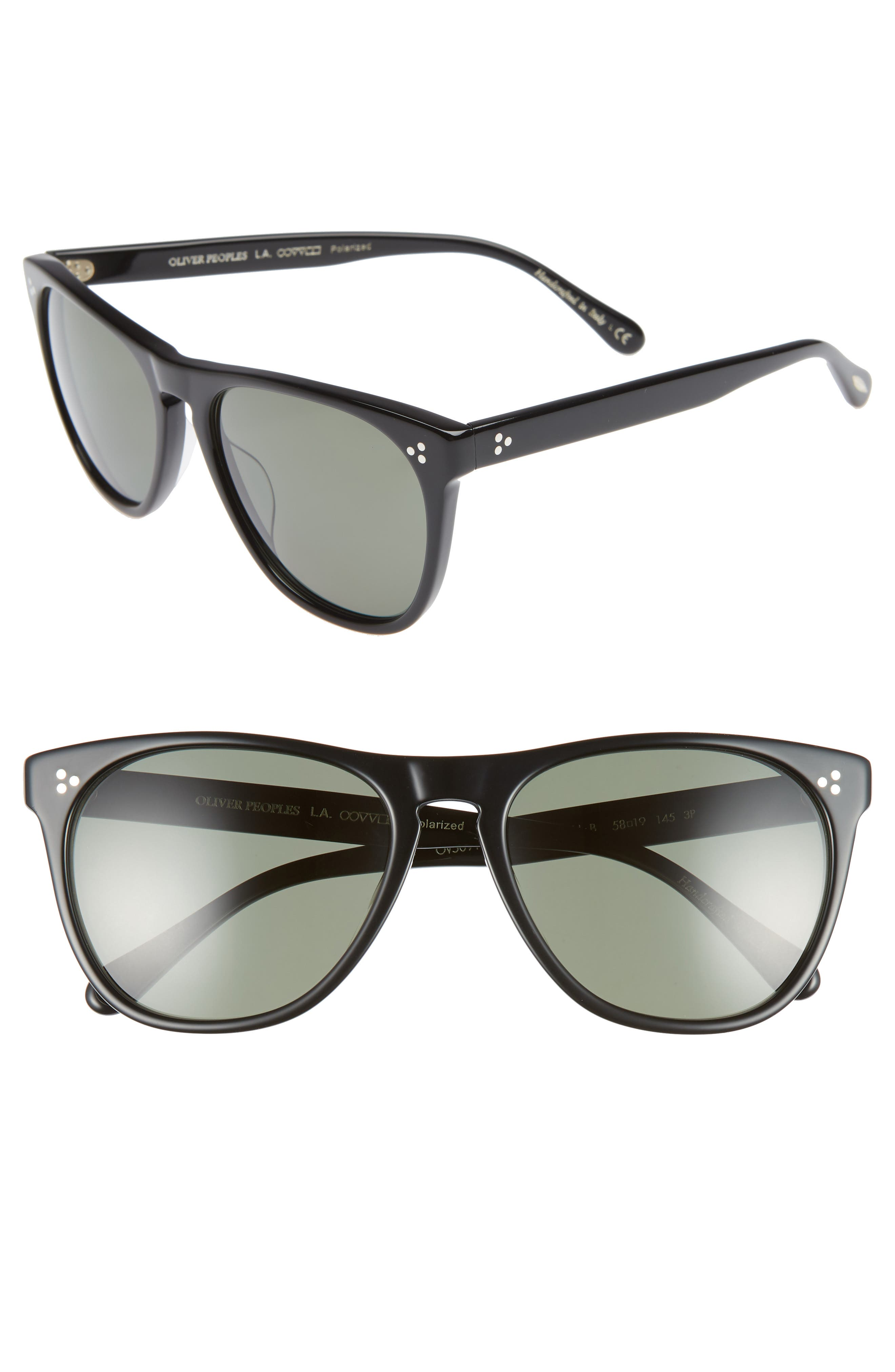 OLIVER PEOPLES Daddy B 58Mm Polarized Sunglasses - Black