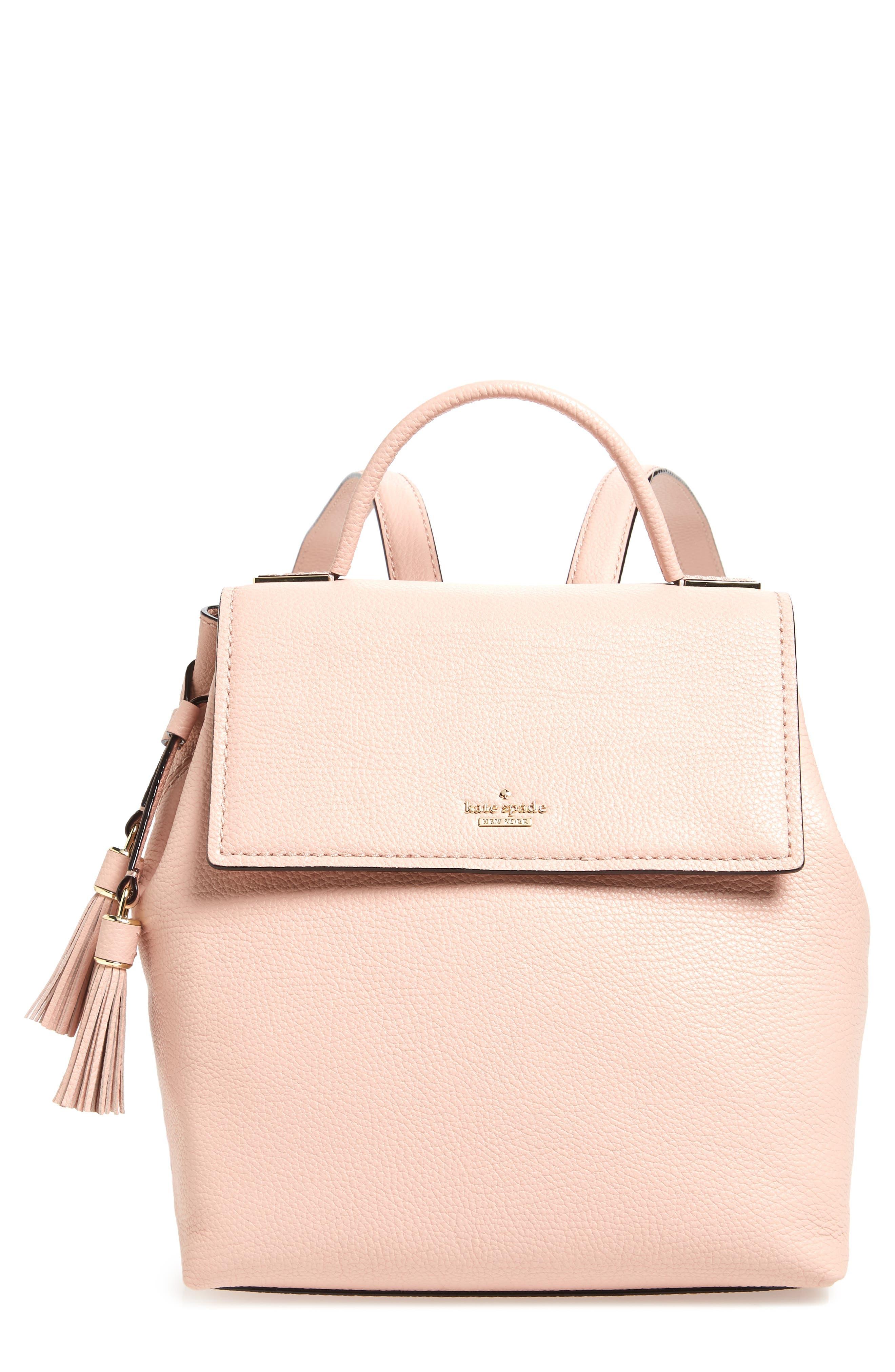 kingston drive - simona leather backpack,                             Main thumbnail 2, color,
