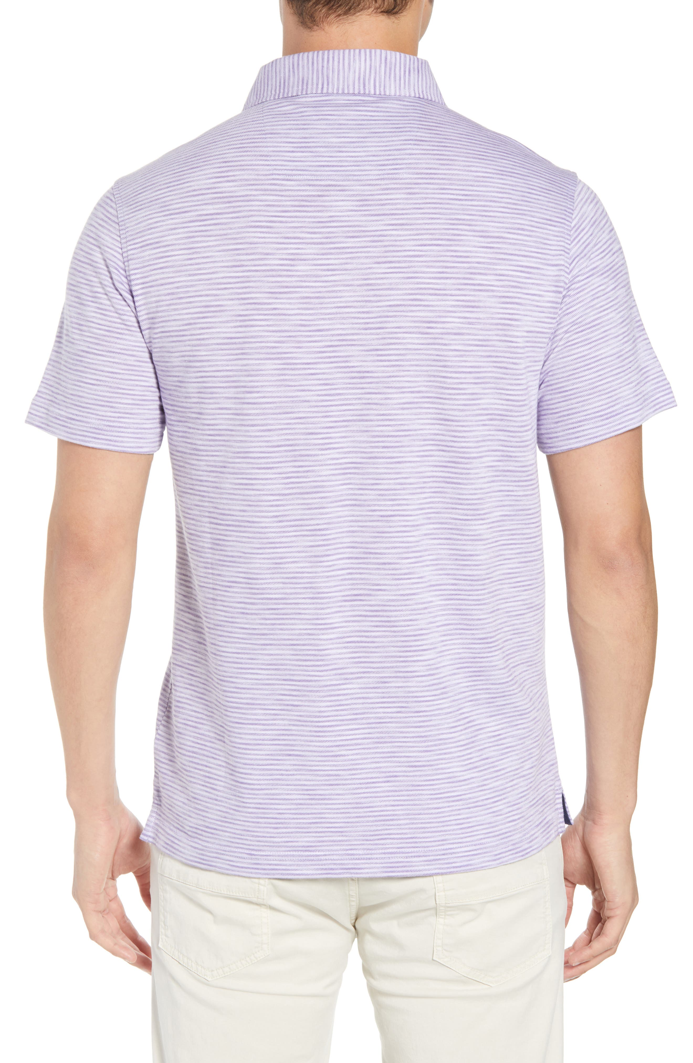 Marled Stripe Polo,                             Alternate thumbnail 2, color,                             ORCHID
