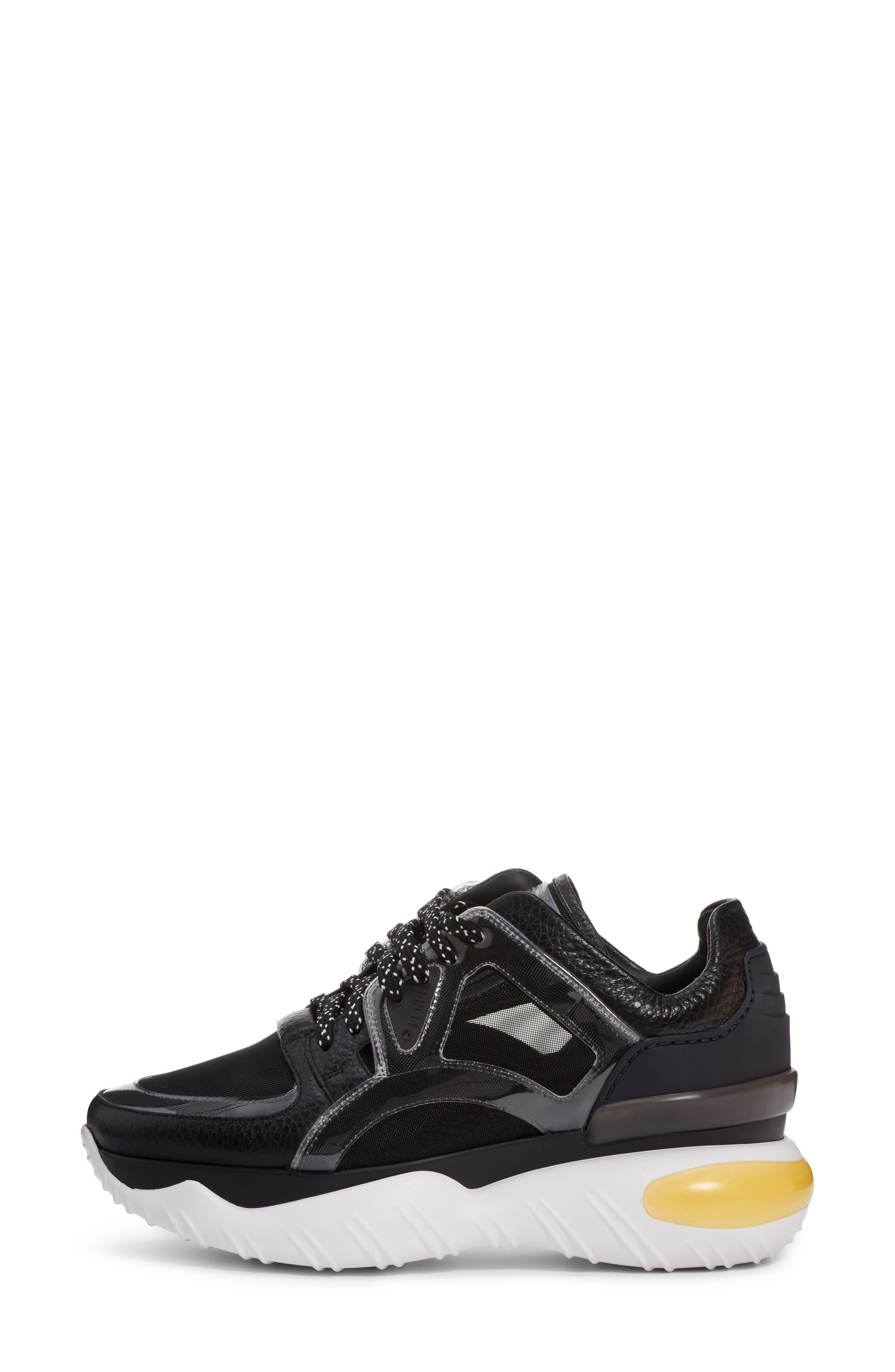 Fancy Lace-Up Sneaker,                             Alternate thumbnail 3, color,                             BLACK