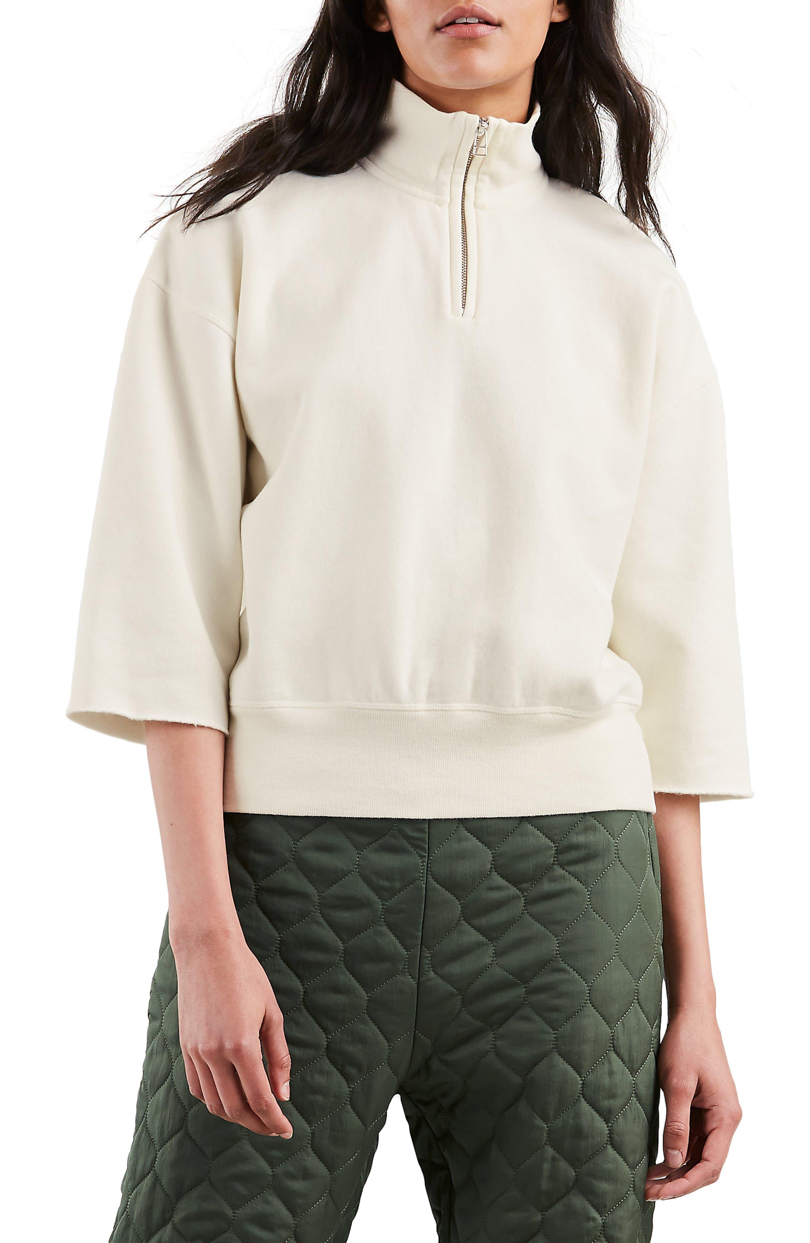 The Popover Sweatshirt,                         Main,                         color, PRISTINE