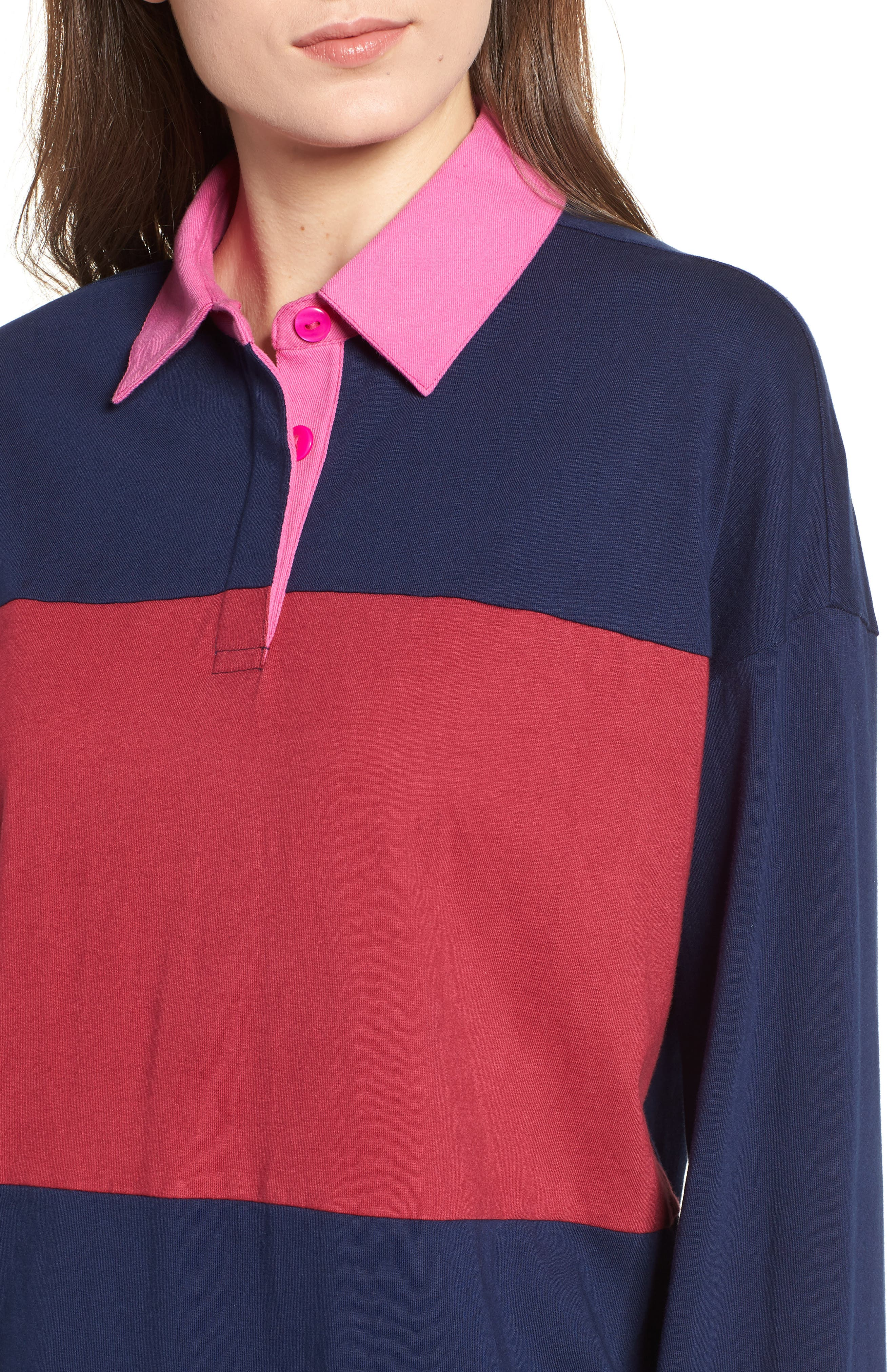 Rugby Polo,                             Alternate thumbnail 4, color,                             NAVY MARITIME