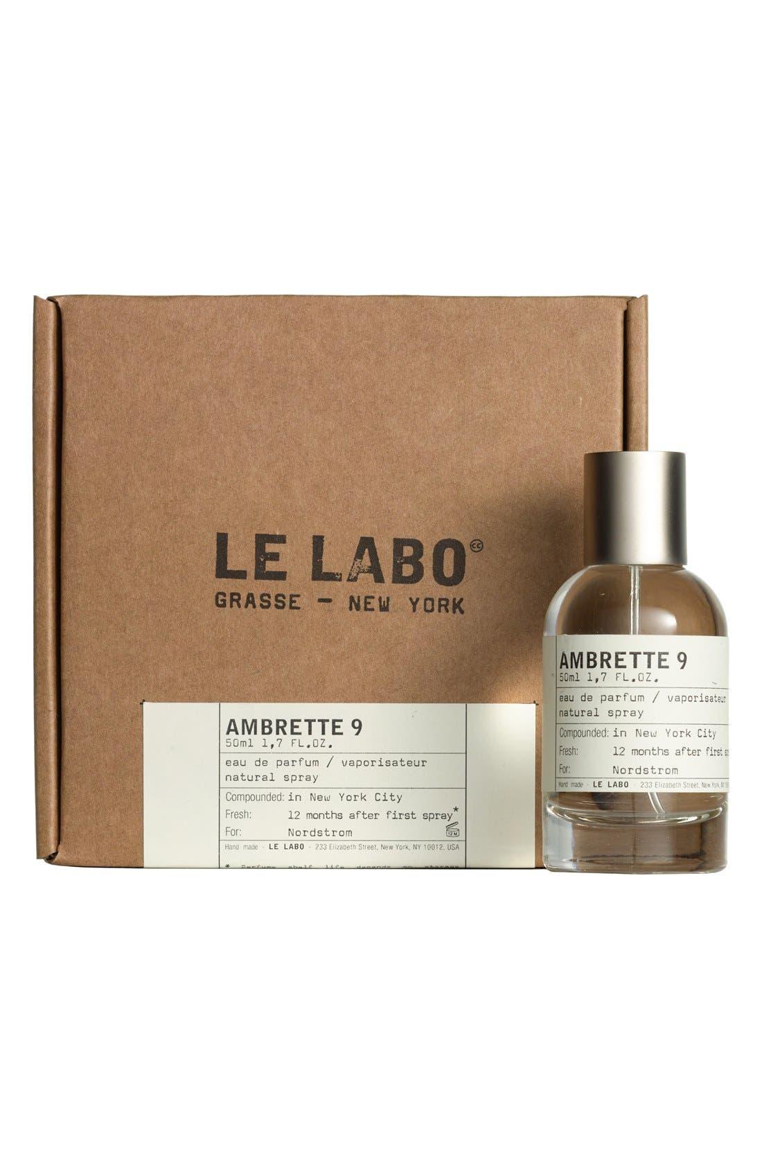 LE LABO,                             'Ambrette 9' Eau de Parfum,                             Alternate thumbnail 4, color,                             NO COLOR
