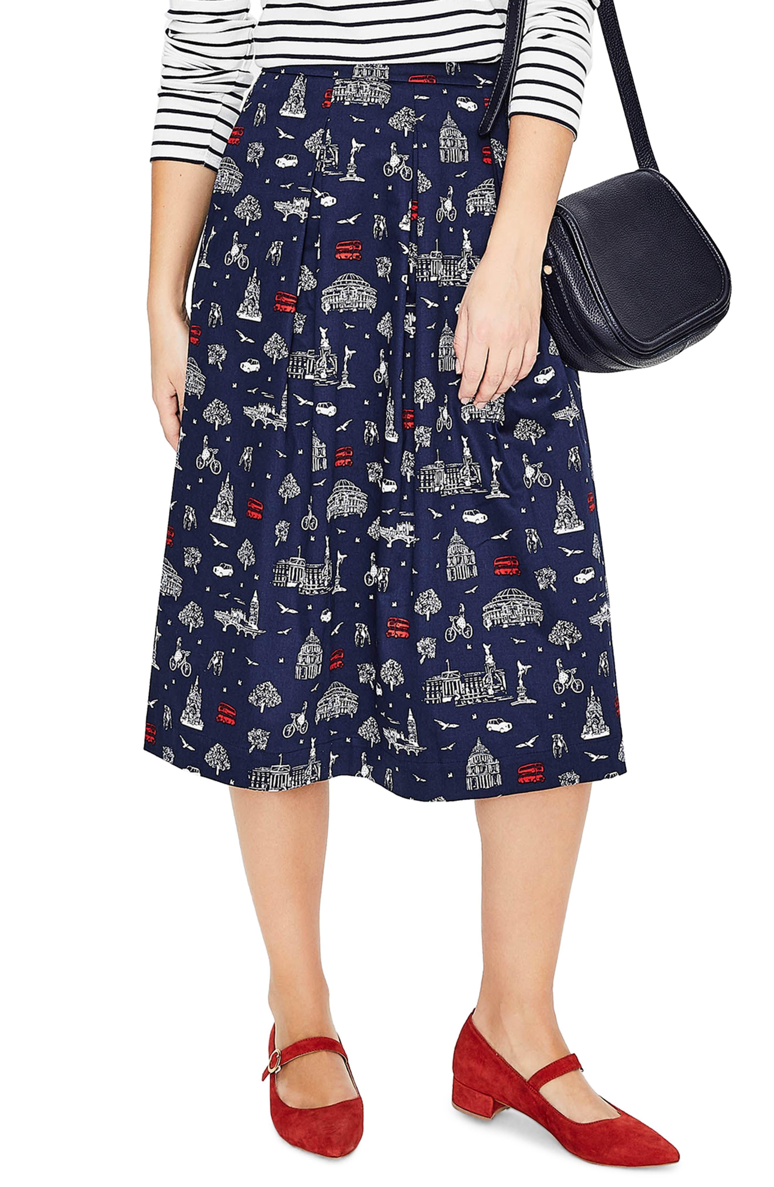 Lola Floral Flared Skirt,                             Main thumbnail 2, color,