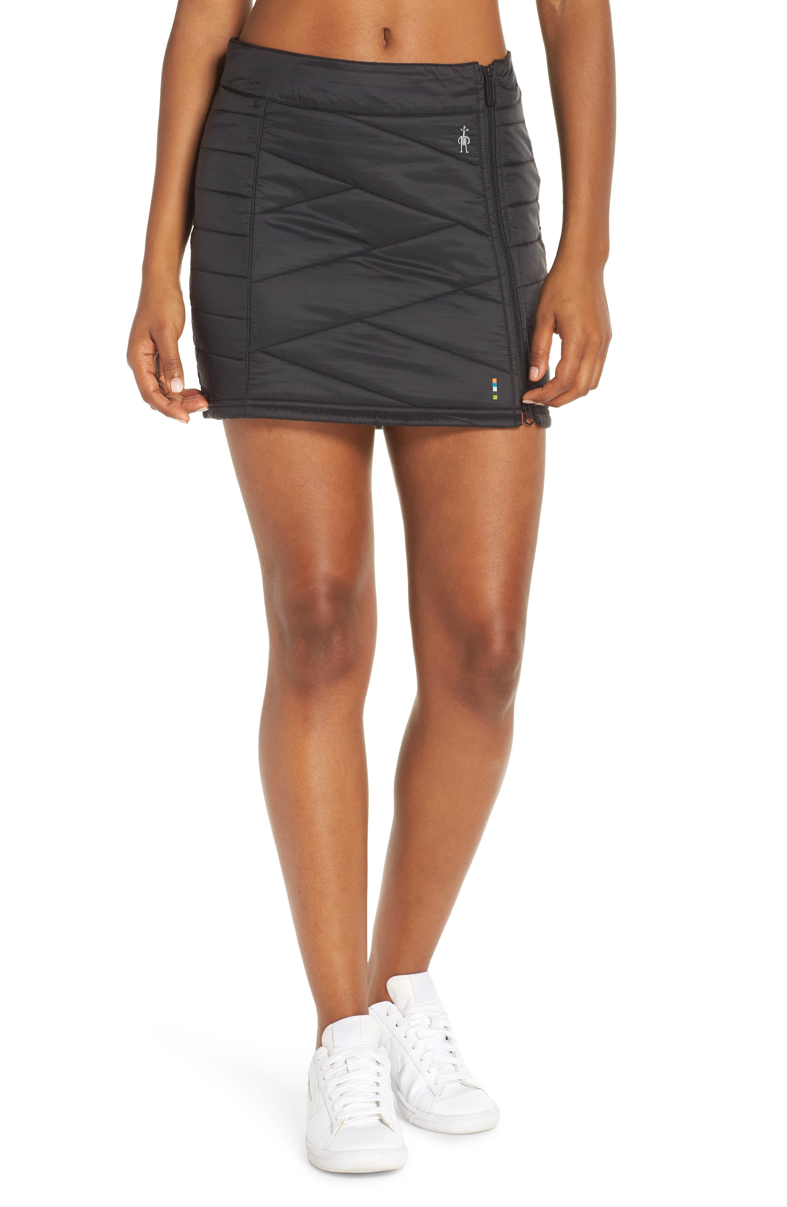 Smartloft 120 Quilted Skirt,                             Main thumbnail 1, color,                             001