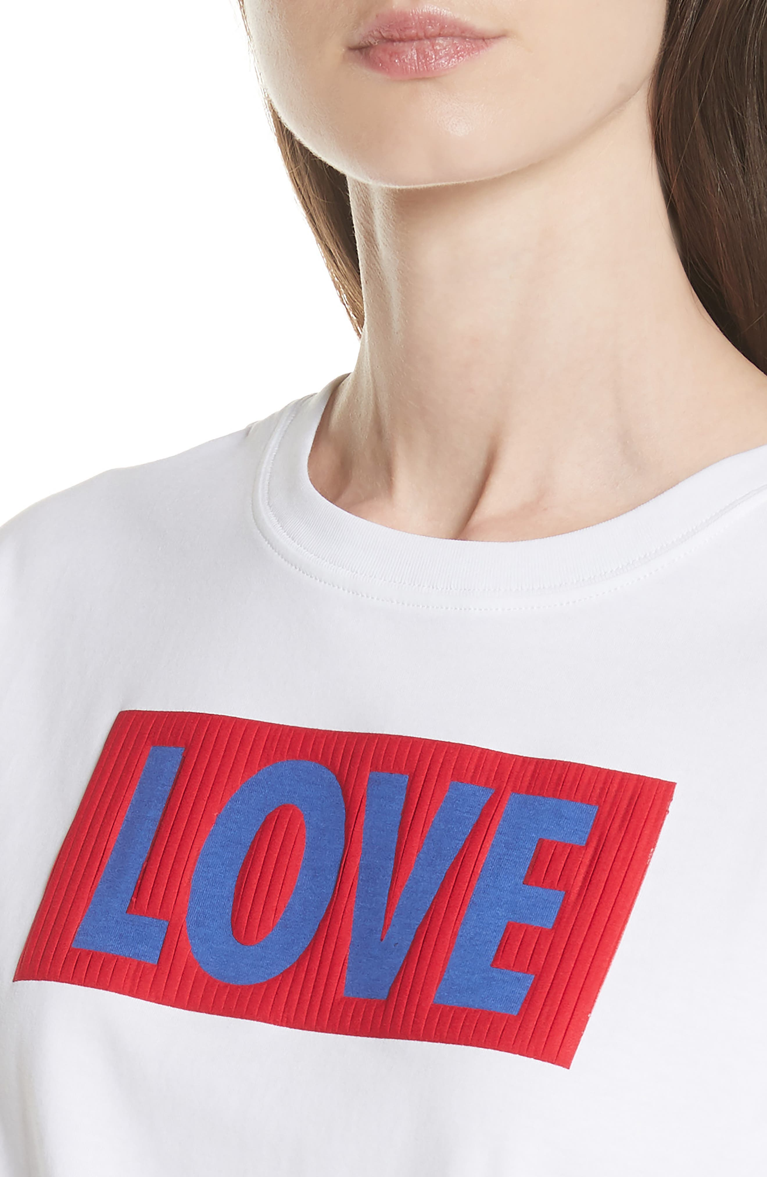Love Tee,                             Alternate thumbnail 4, color,                             100
