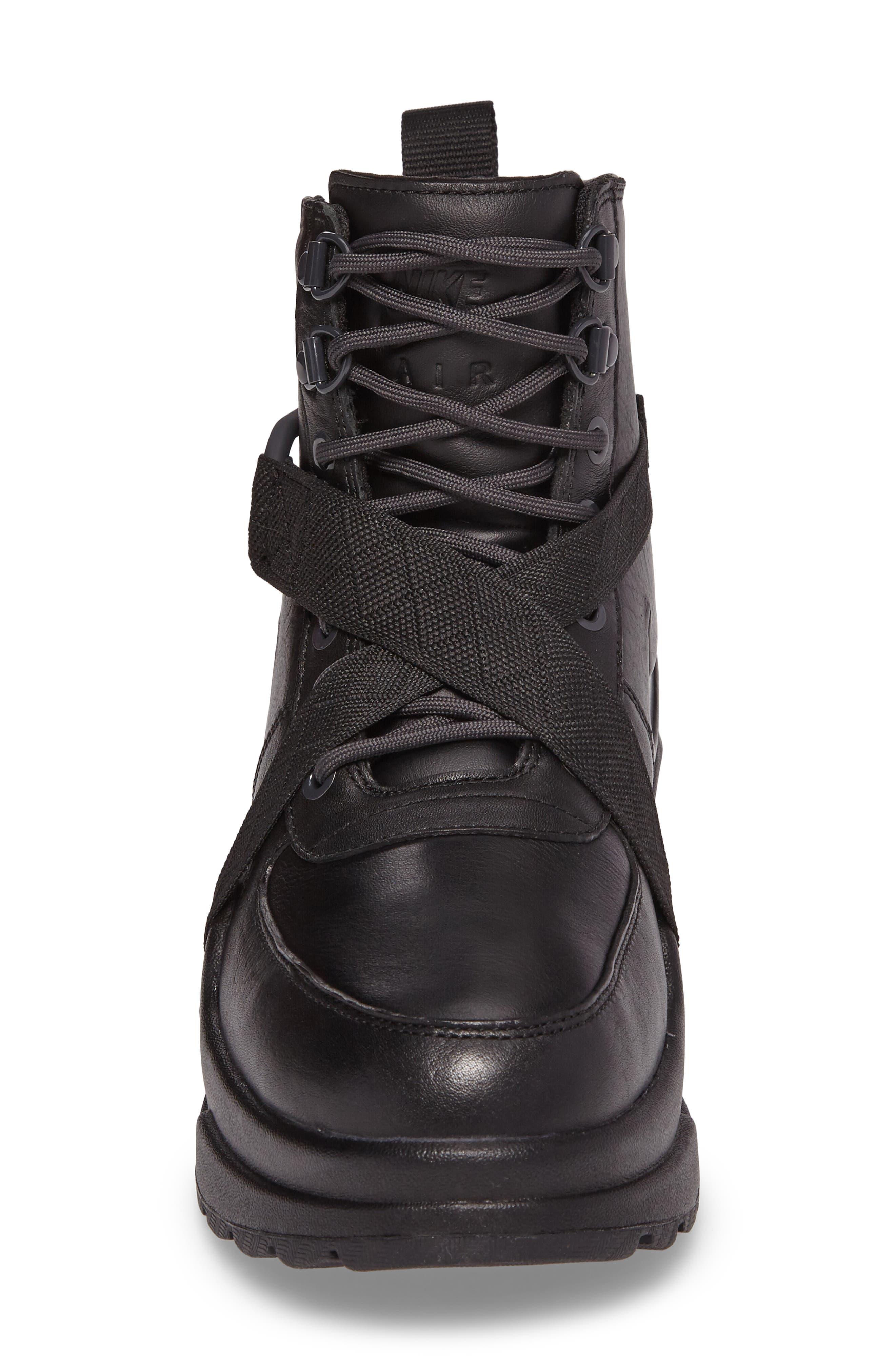 Air Max Goadome Sneaker Boot,                             Alternate thumbnail 4, color,                             BLACK/ ANTHRACITE/ BLACK