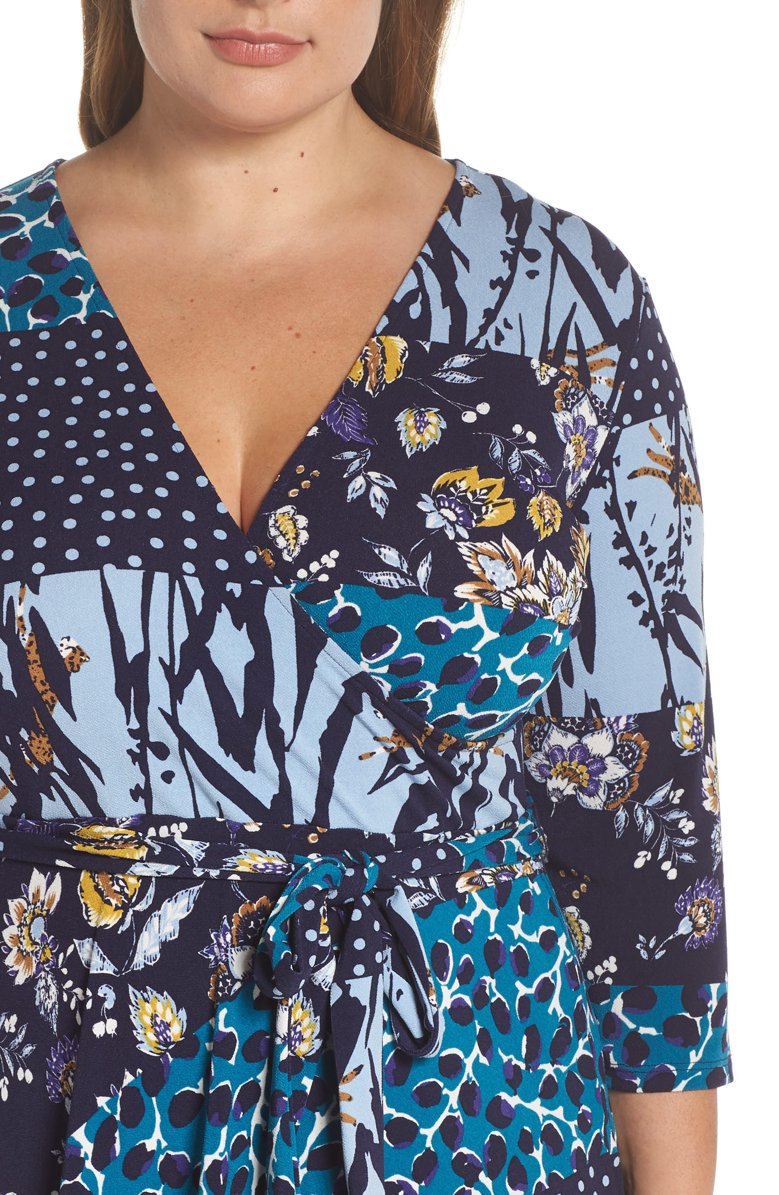 Wrap Dress,                             Alternate thumbnail 4, color,                             MONTAGE