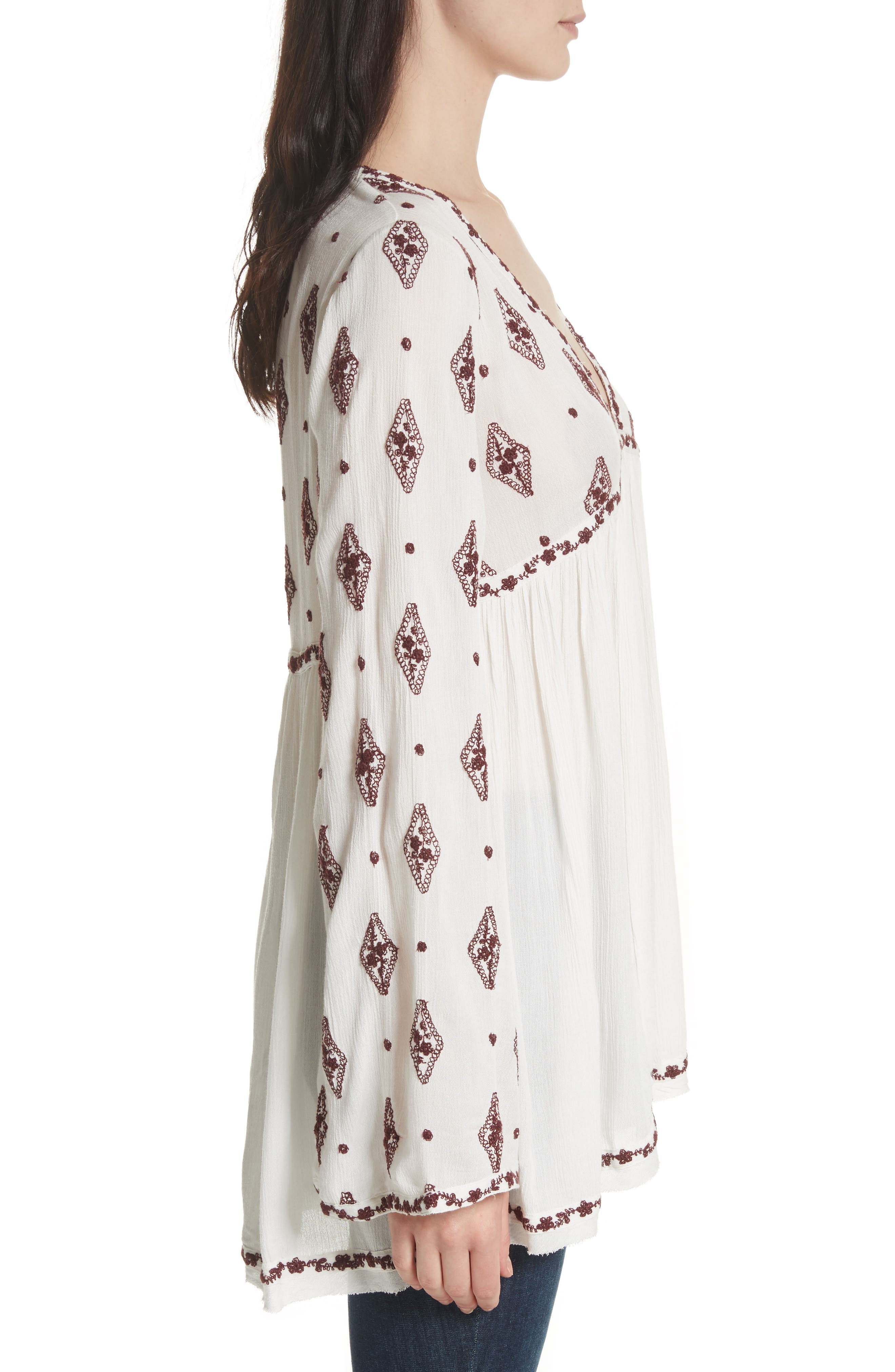 Embroidered Bell Sleeve Top,                             Alternate thumbnail 13, color,