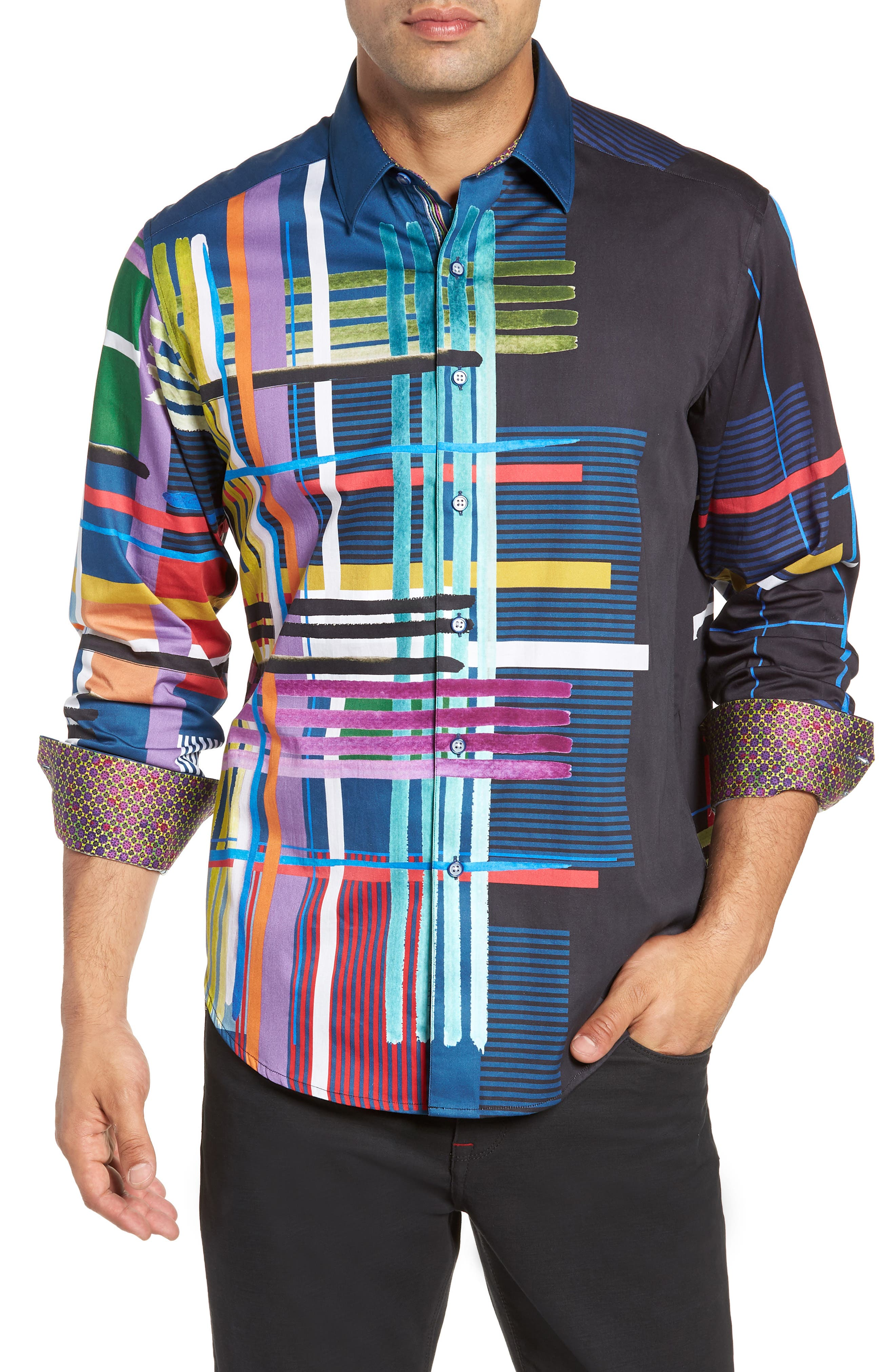Robinson Classic Fit Sport Shirt,                         Main,                         color, MULTI