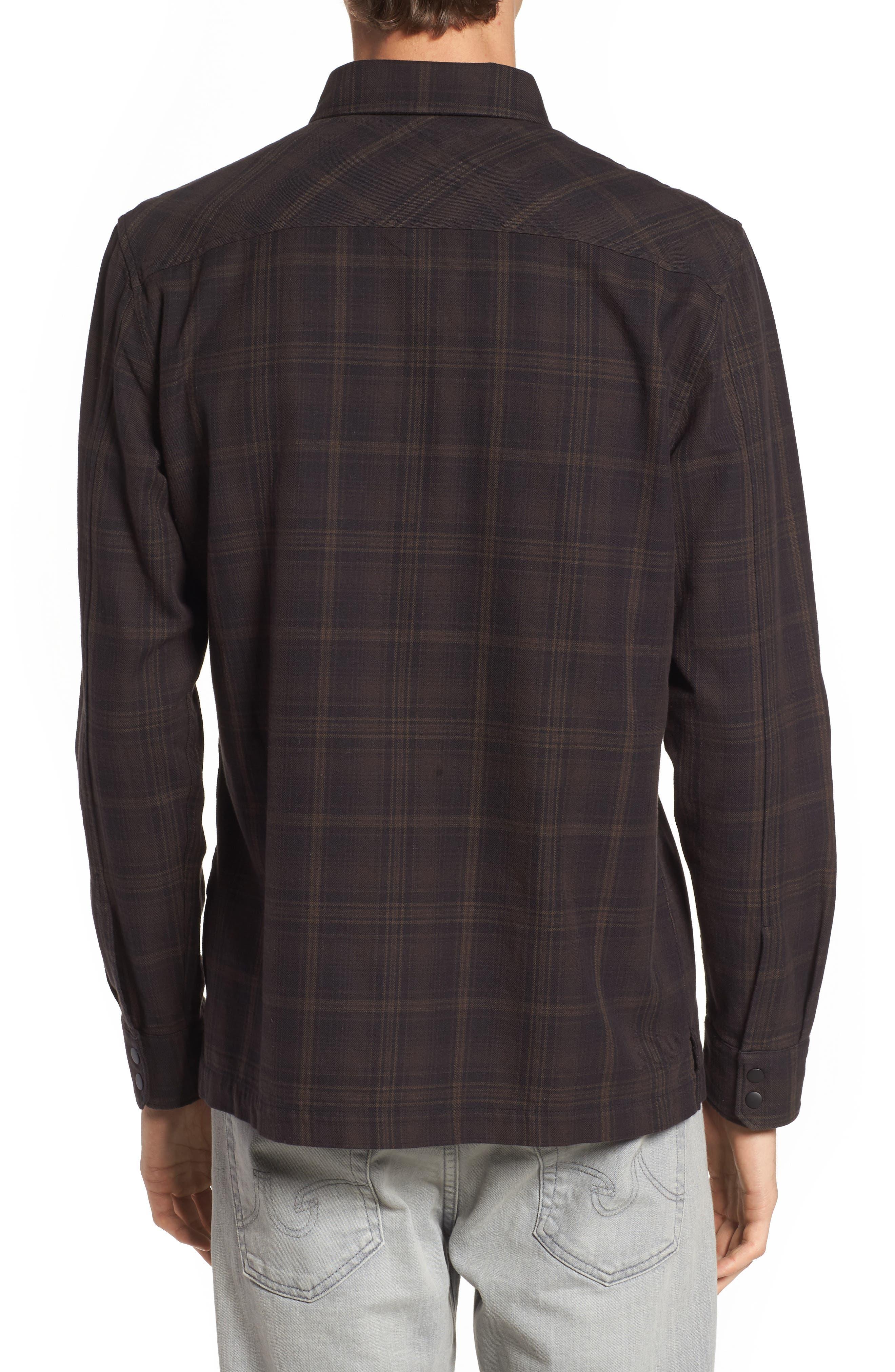 Boone Slim Plaid Overshirt,                             Alternate thumbnail 2, color,                             200