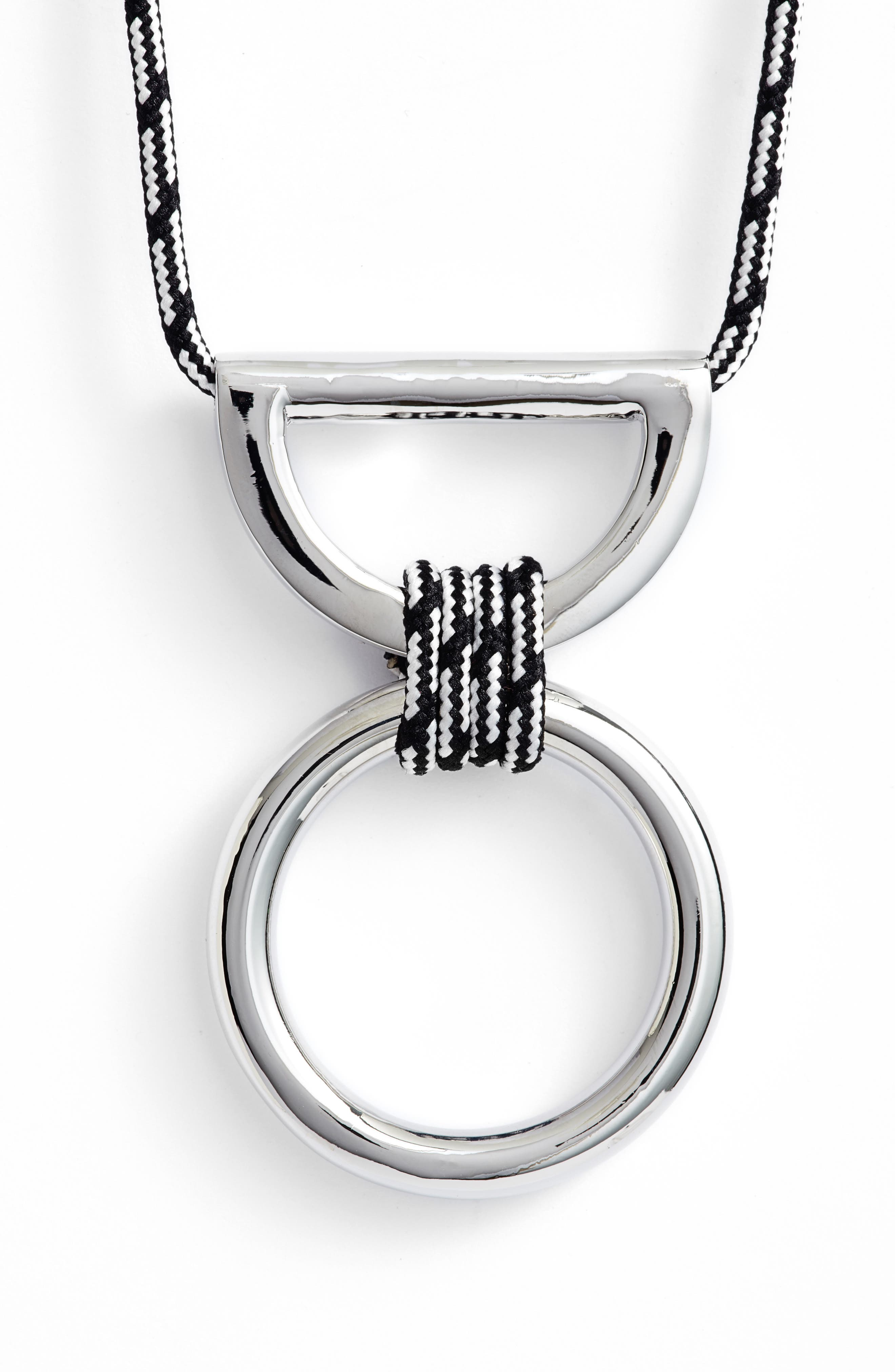 Climbing Rope Pendant Necklace,                             Alternate thumbnail 3, color,                             001