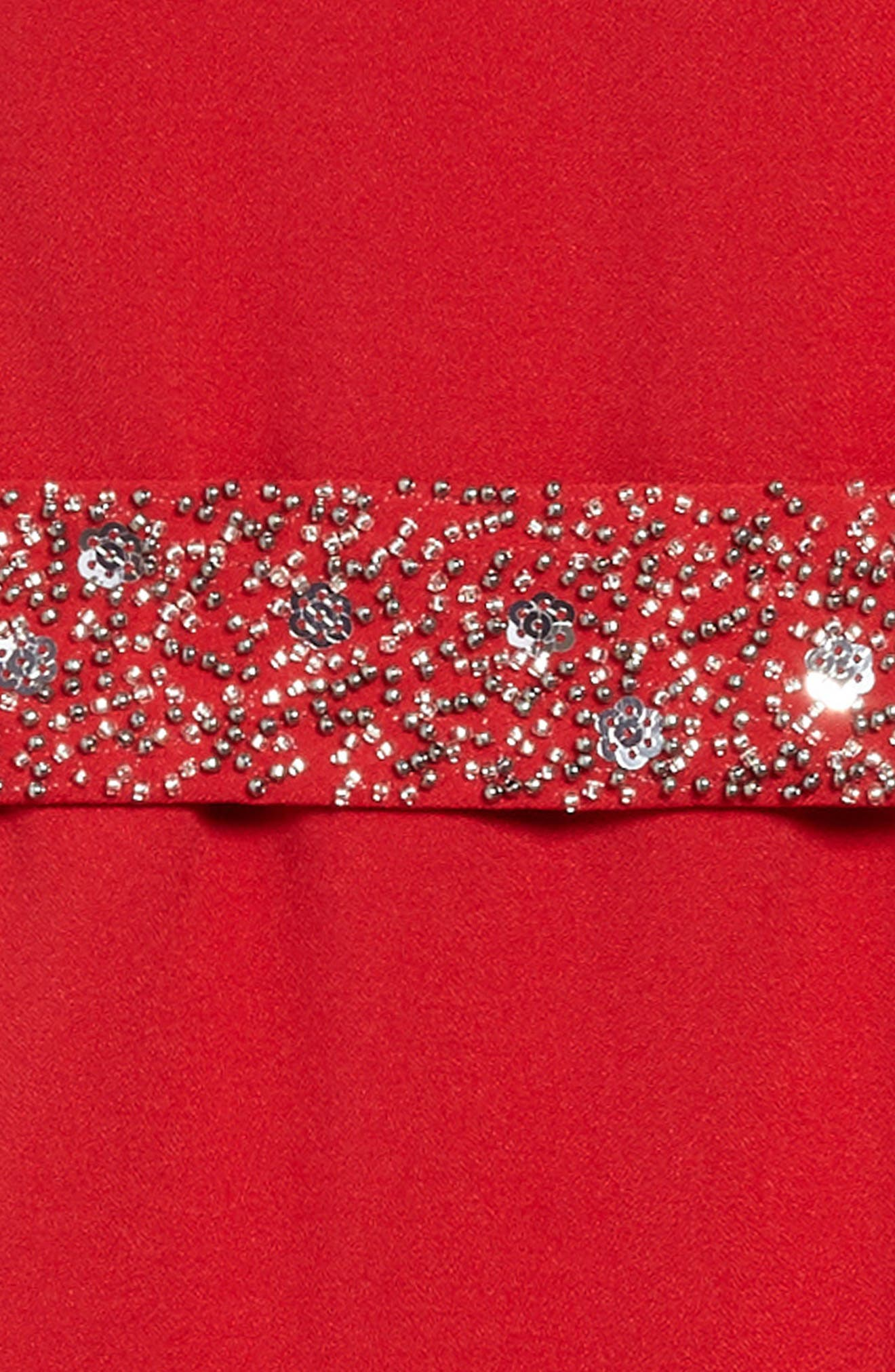 Crepe Faux Wrap Dress,                             Alternate thumbnail 3, color,                             634