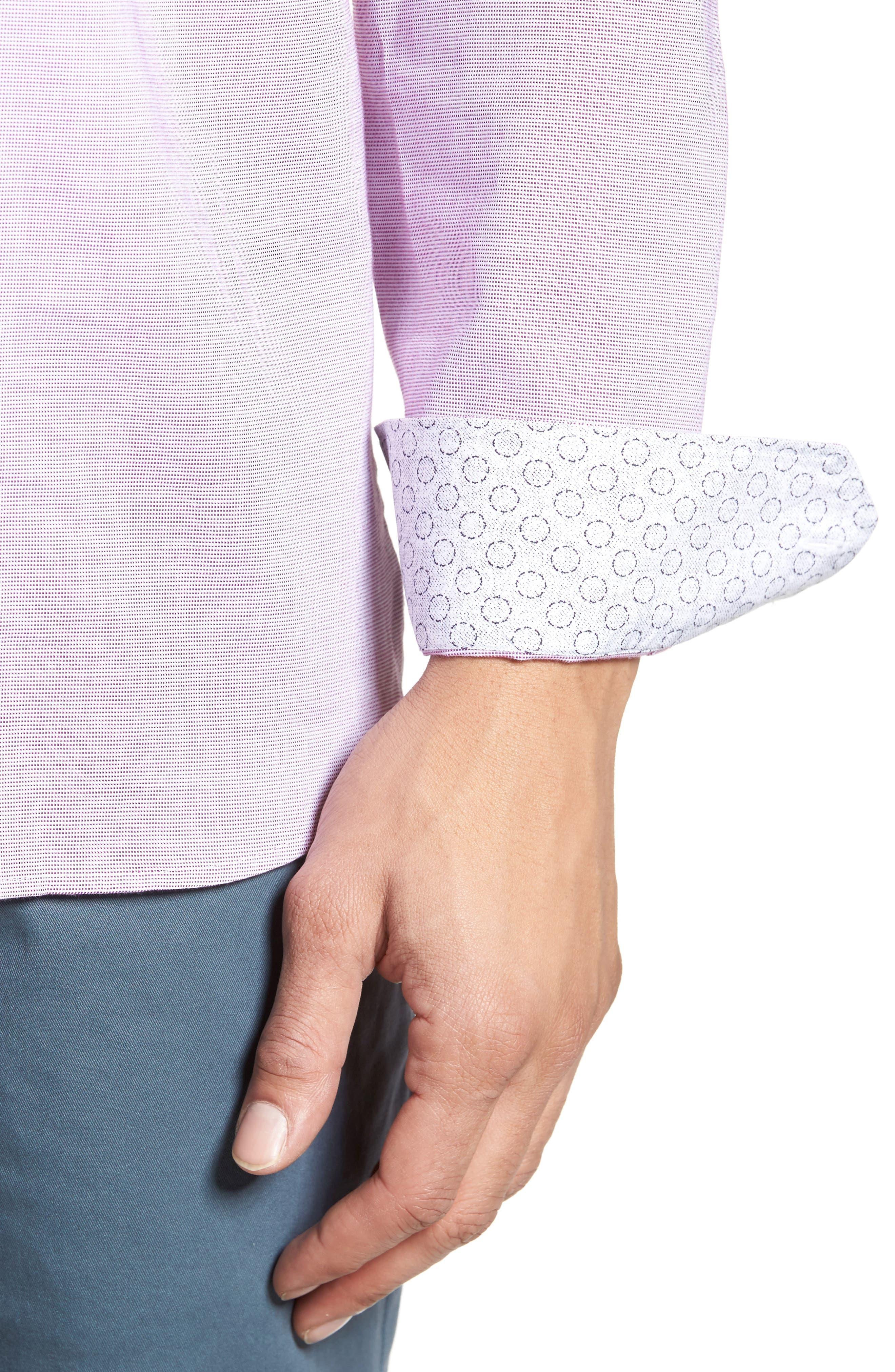 Slim Fit Textured Sport Shirt,                             Alternate thumbnail 19, color,