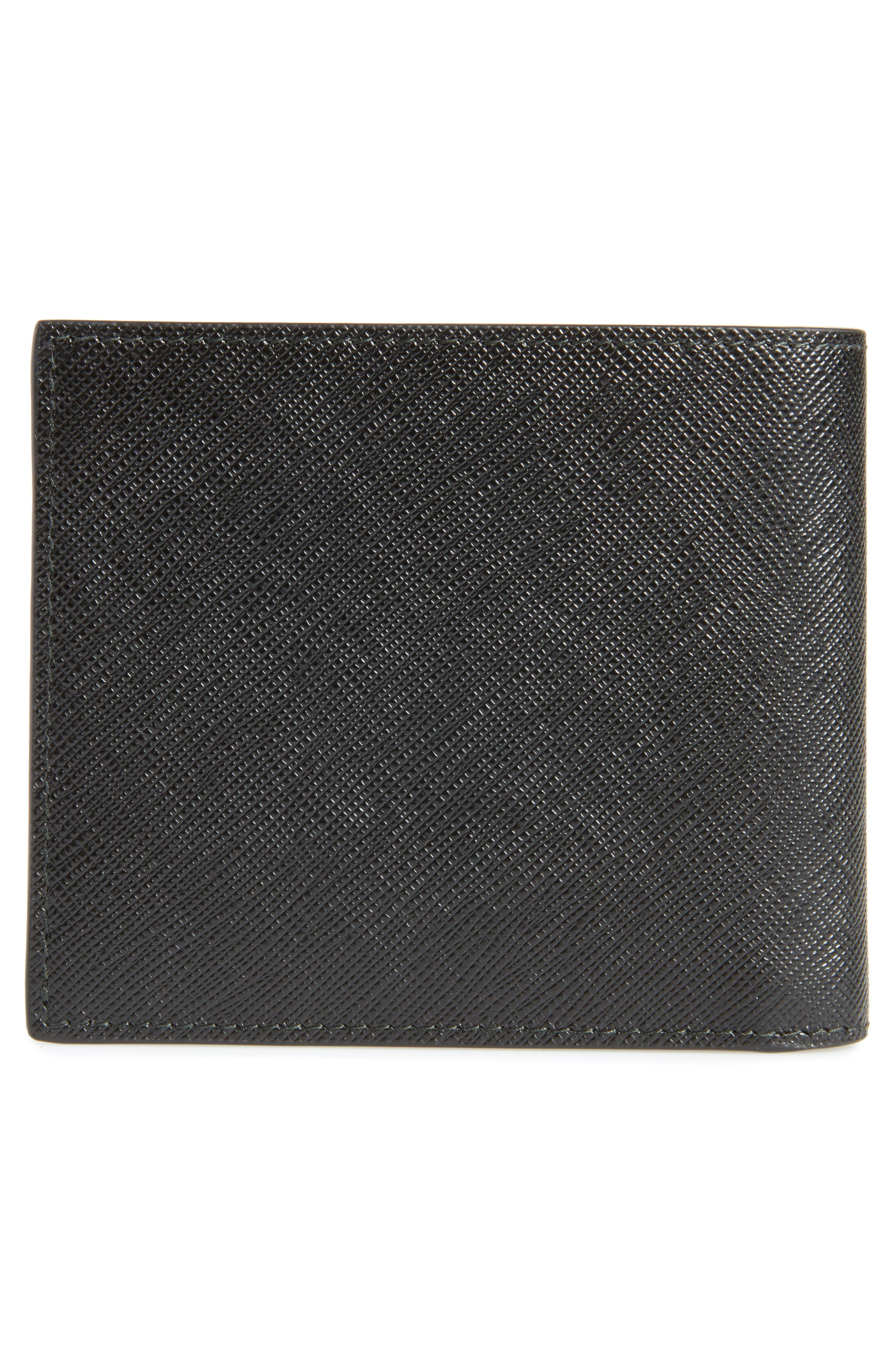 Saffiano Leather Billfold Wallet,                             Alternate thumbnail 3, color,                             002