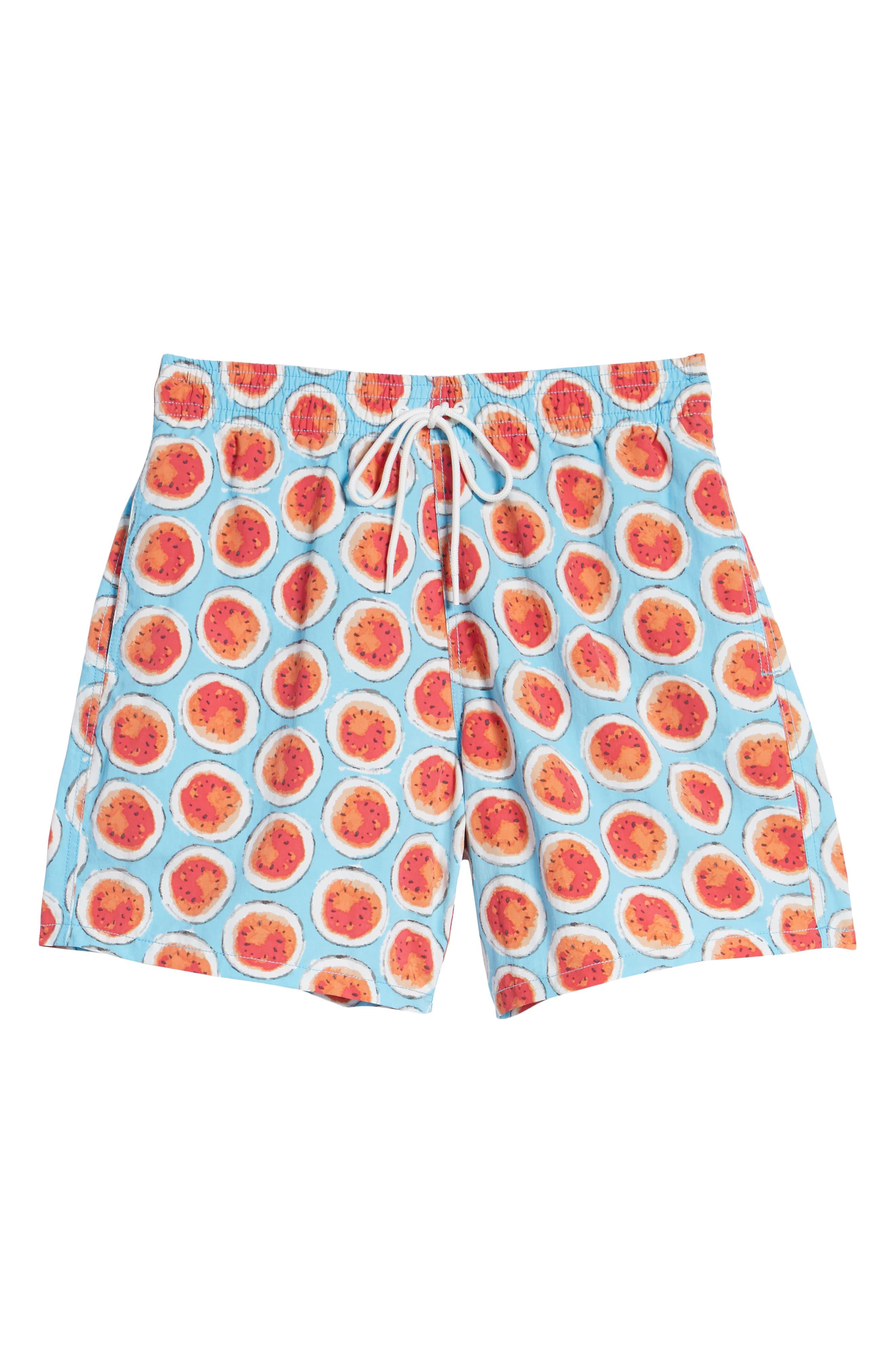 Denniston Regular Fit Swim Trunks,                             Alternate thumbnail 6, color,                             439