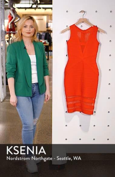 Illusion Mesh Body-Con Dress, sales video thumbnail