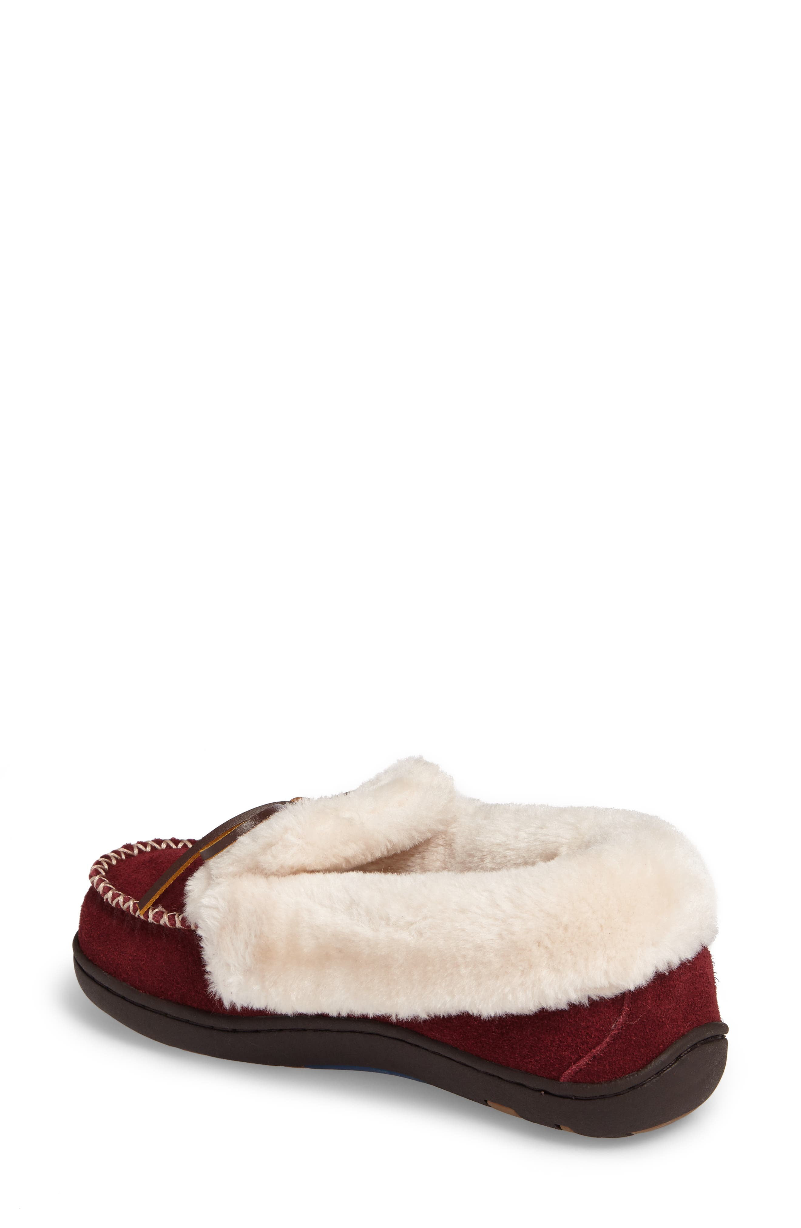 Laurin Slipper,                             Alternate thumbnail 2, color,                             RUBY SUEDE