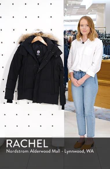 Wyndham Slim Fit Genuine Coyote Fur Trim Down Jacket, sales video thumbnail