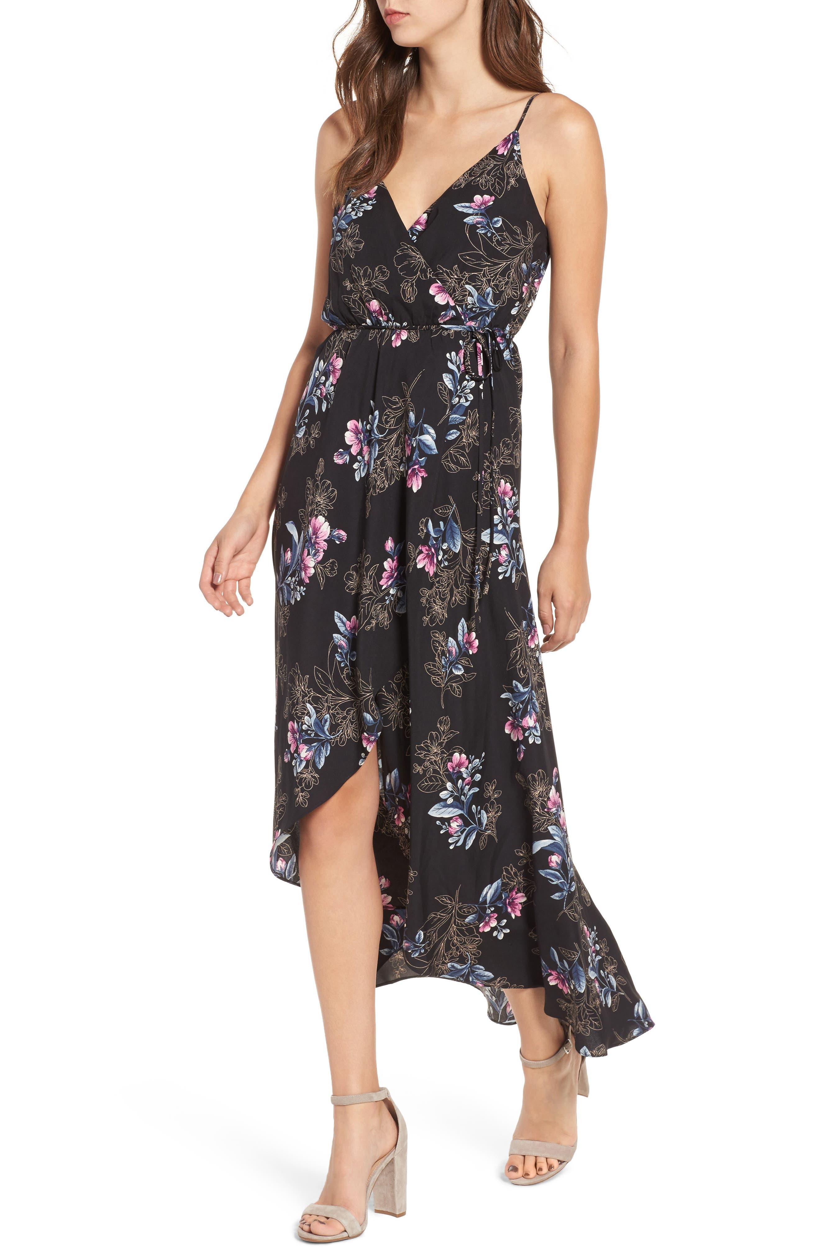Wrap Maxi Dress,                         Main,                         color, 001