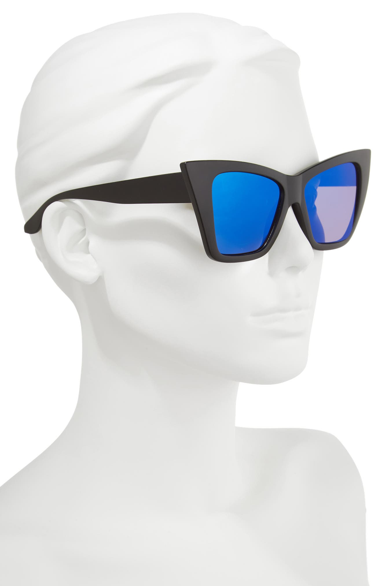 66mm Oversize Cat Eye Sunglasses,                             Alternate thumbnail 2, color,                             001