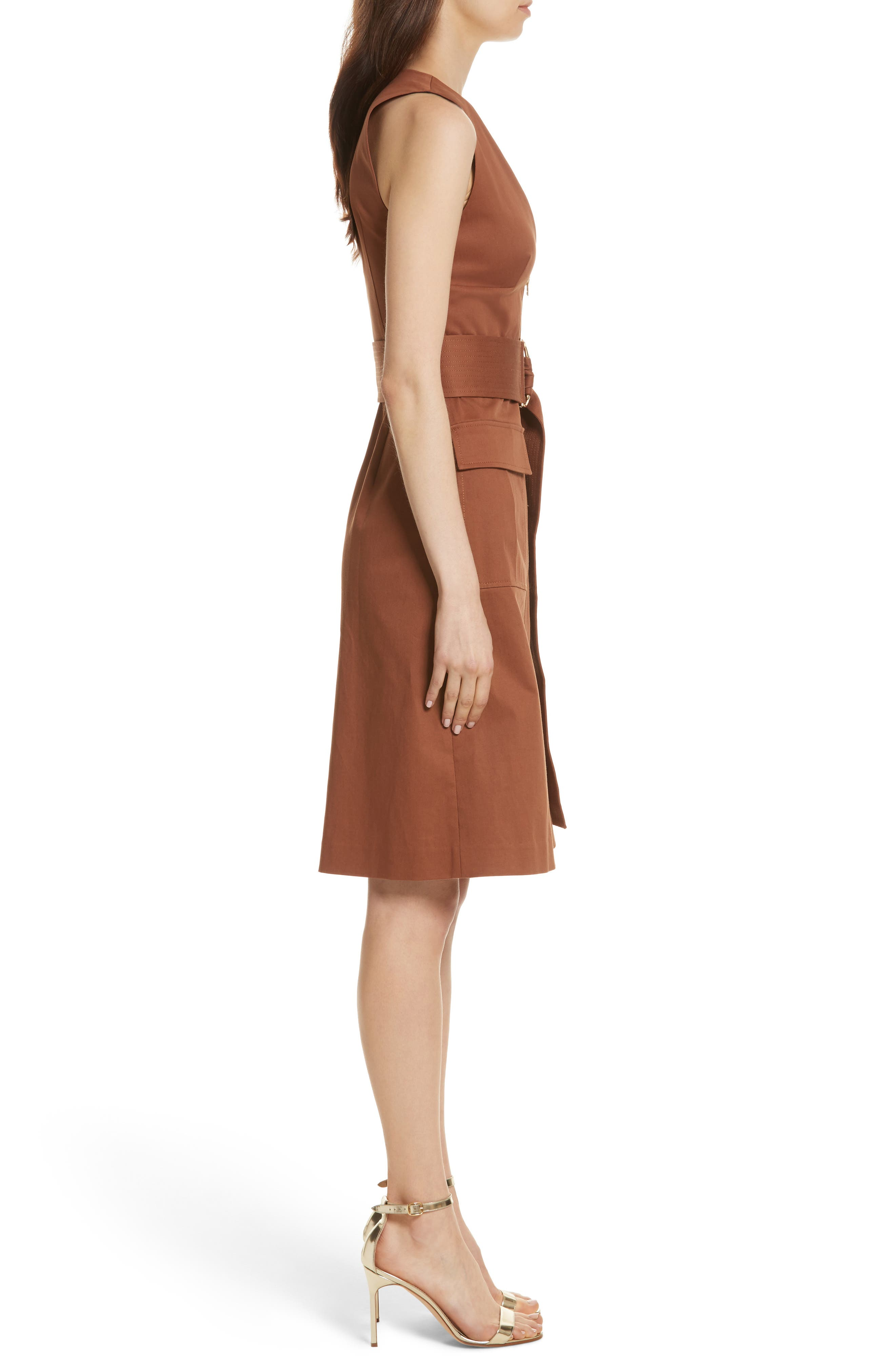 Diane von Furstenberg Zip Front Dress,                             Alternate thumbnail 3, color,                             203