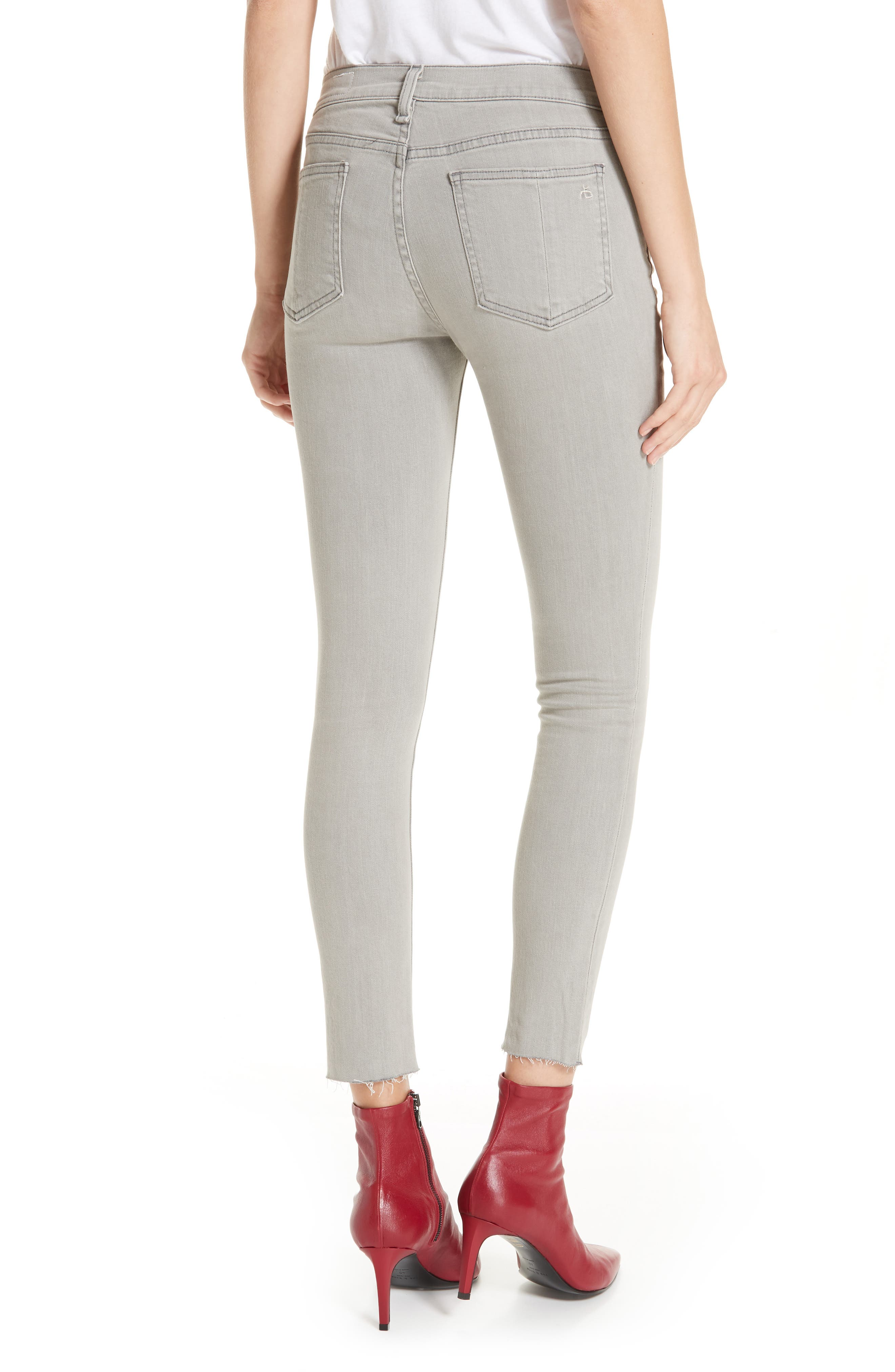 Ankle Skinny Jeans,                             Alternate thumbnail 2, color,                             020
