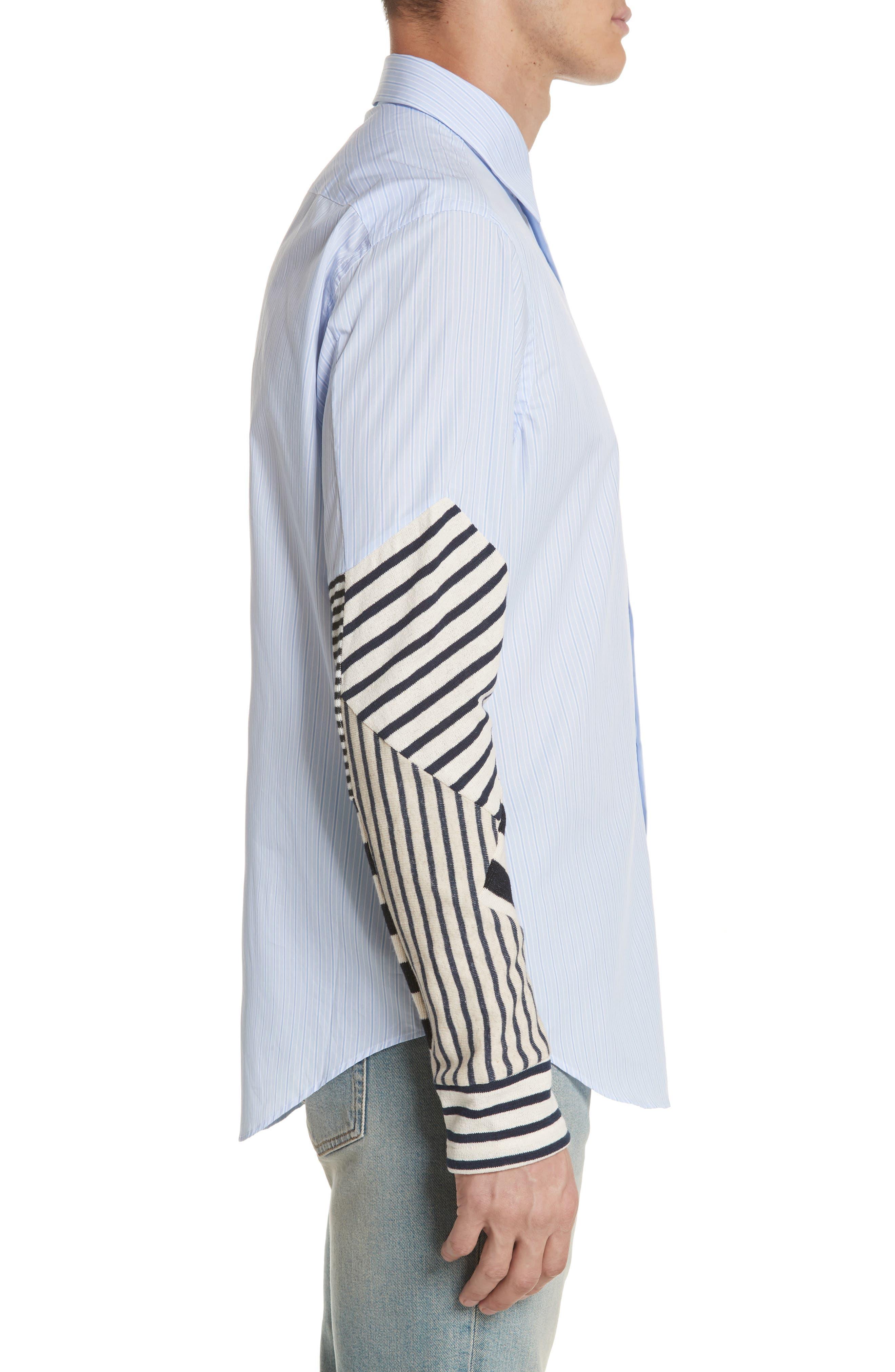 Patchwork Sleeve Shirt,                             Alternate thumbnail 3, color,                             112