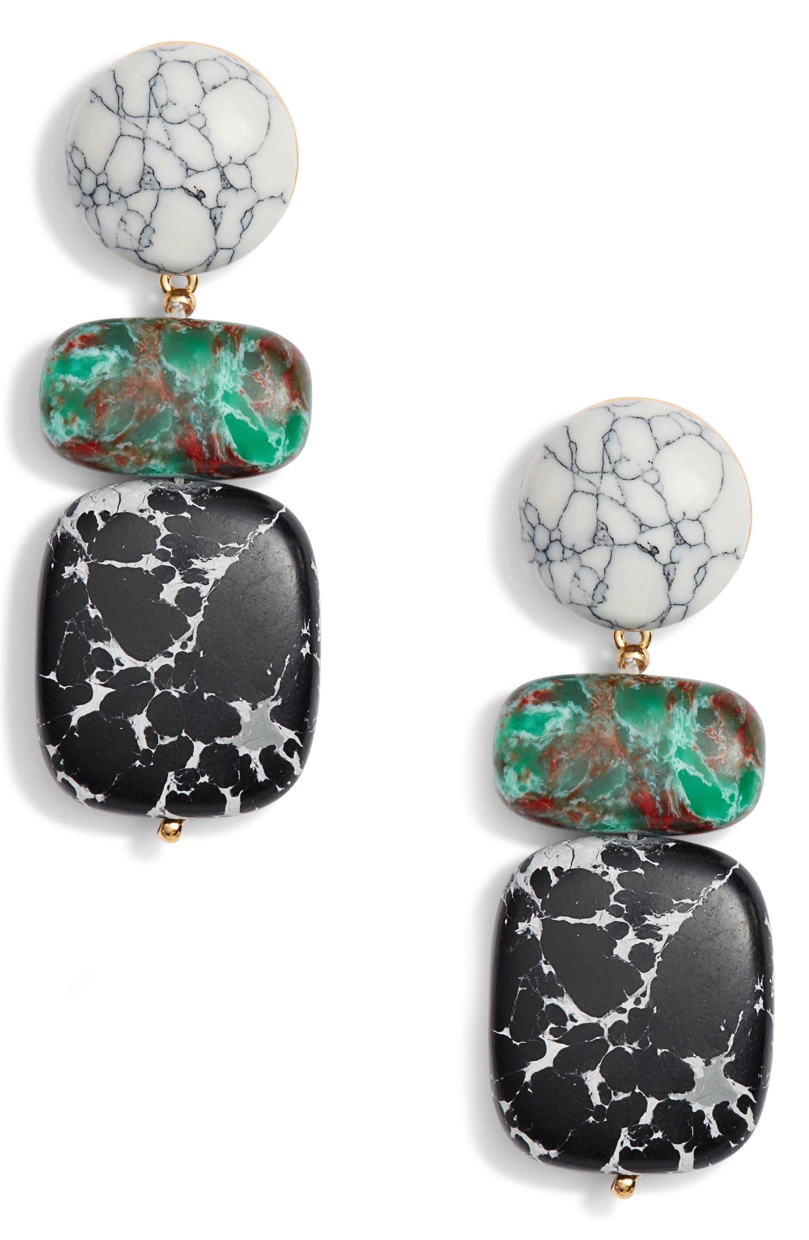 Boulder Drop Earrings,                             Main thumbnail 1, color,                             001