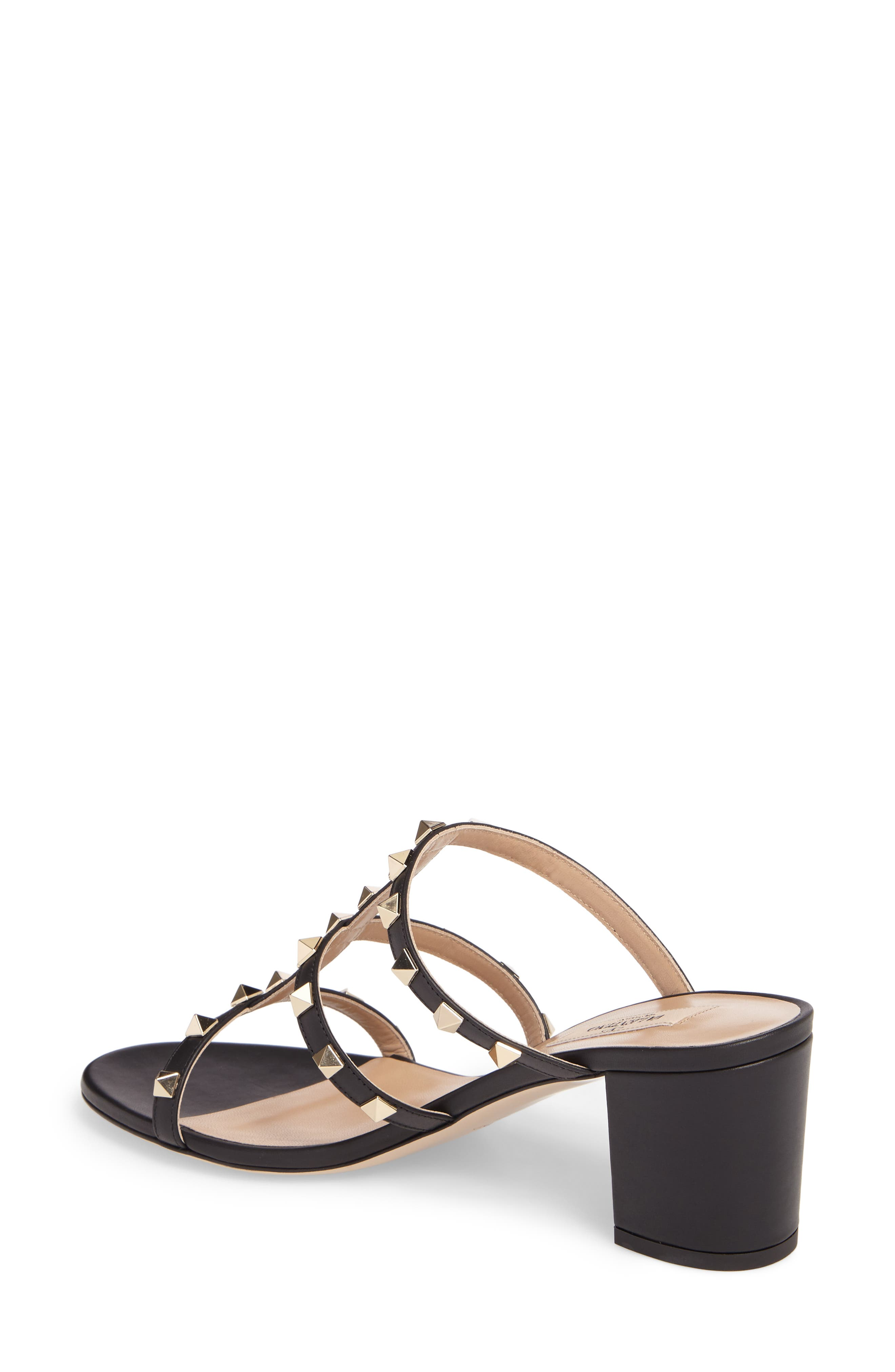 Rockstud Slide Sandal,                             Alternate thumbnail 2, color,                             002