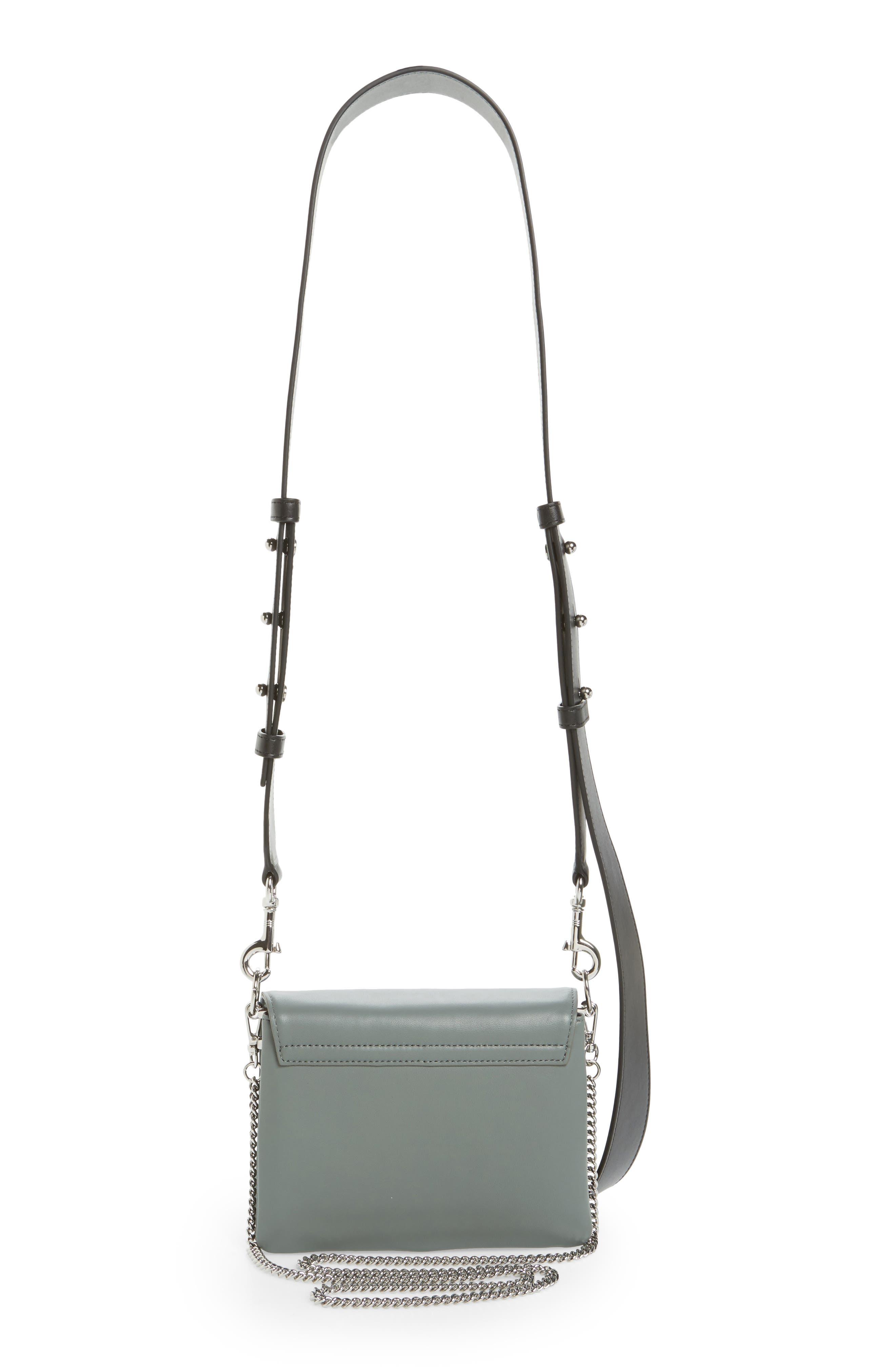 Zep Lambskin Leather Shoulder Bag,                             Alternate thumbnail 6, color,
