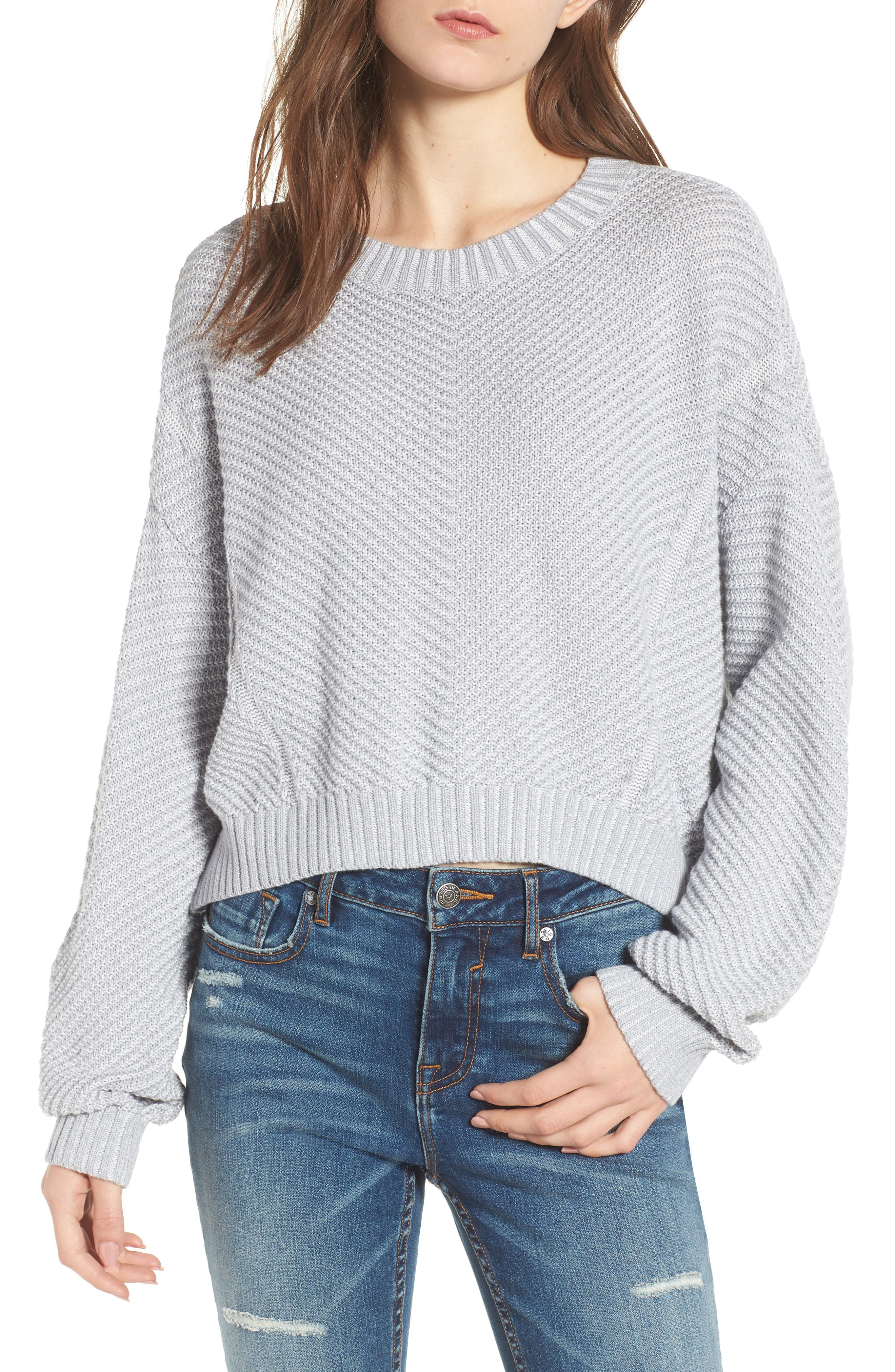 Plaited Drop Shoulder Sweater,                         Main,                         color,