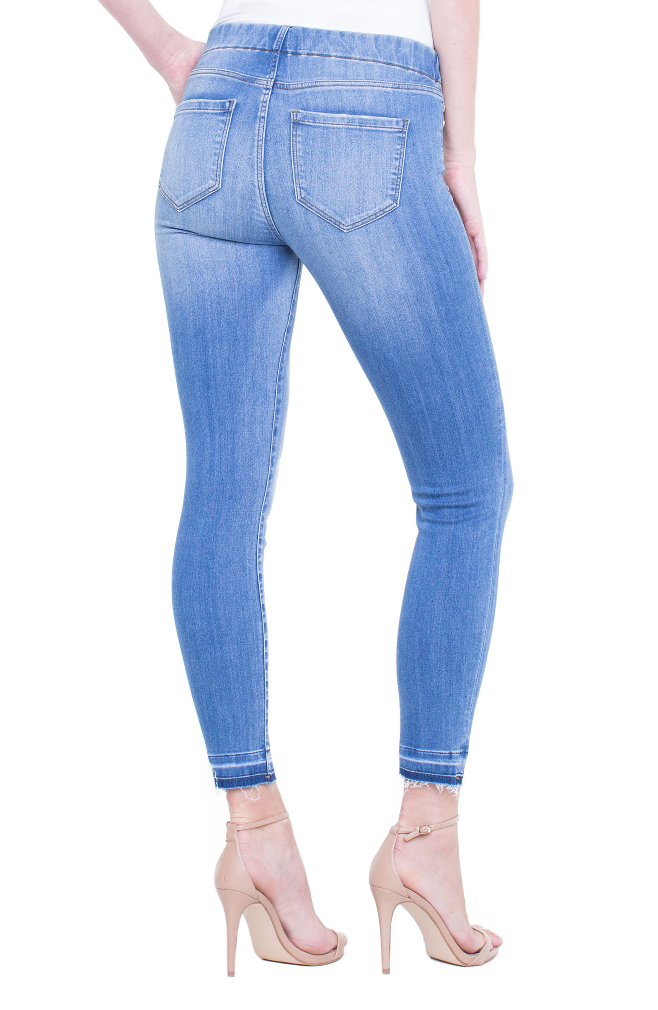 Chloe Release Hem Denim Leggings,                             Alternate thumbnail 2, color,                             RIDGEWAY GRIND