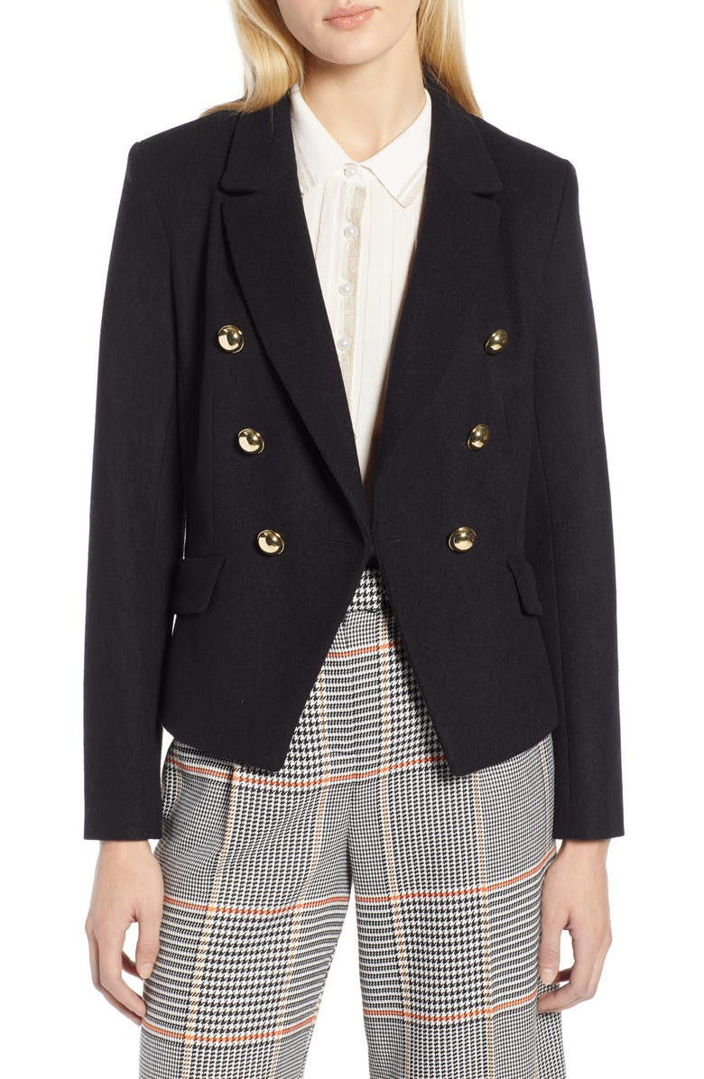Halogen® x Atlantic-Pacific Double Breasted Wool Blend Blazer | Nordstrom