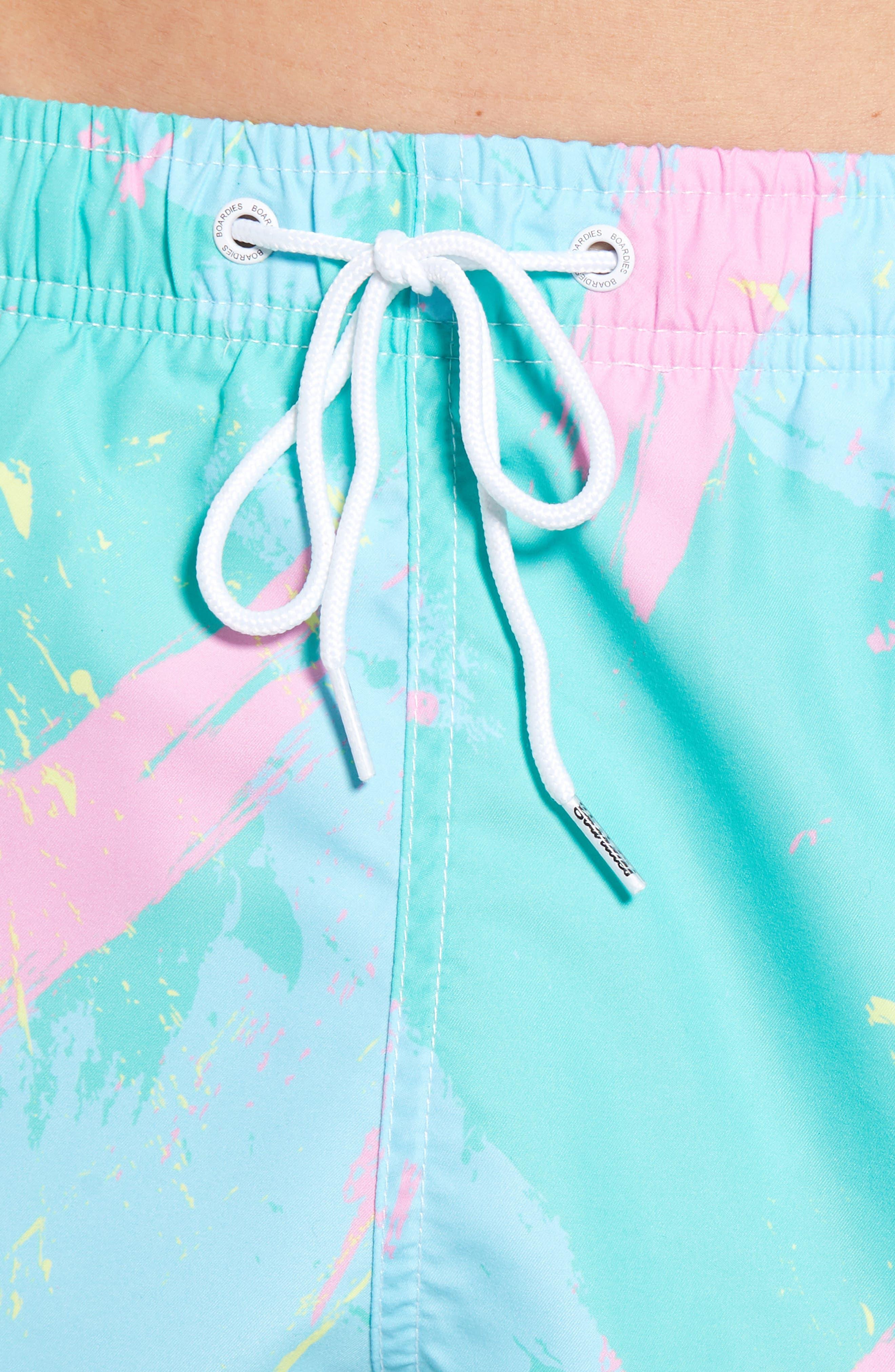 Malibu Swim Trunks,                             Alternate thumbnail 4, color,                             MULTI