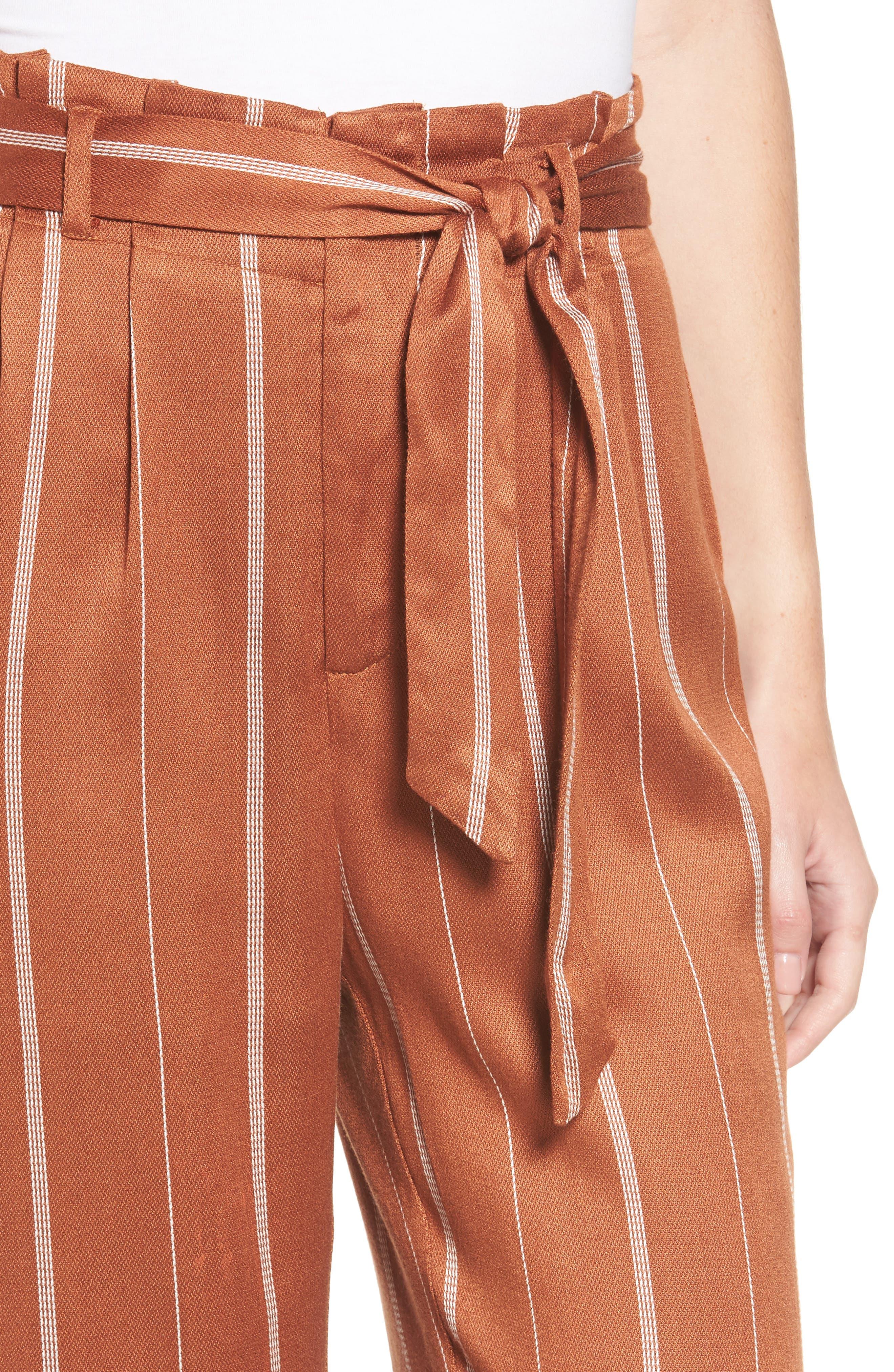Paperbag Waist Pants,                             Alternate thumbnail 4, color,                             800