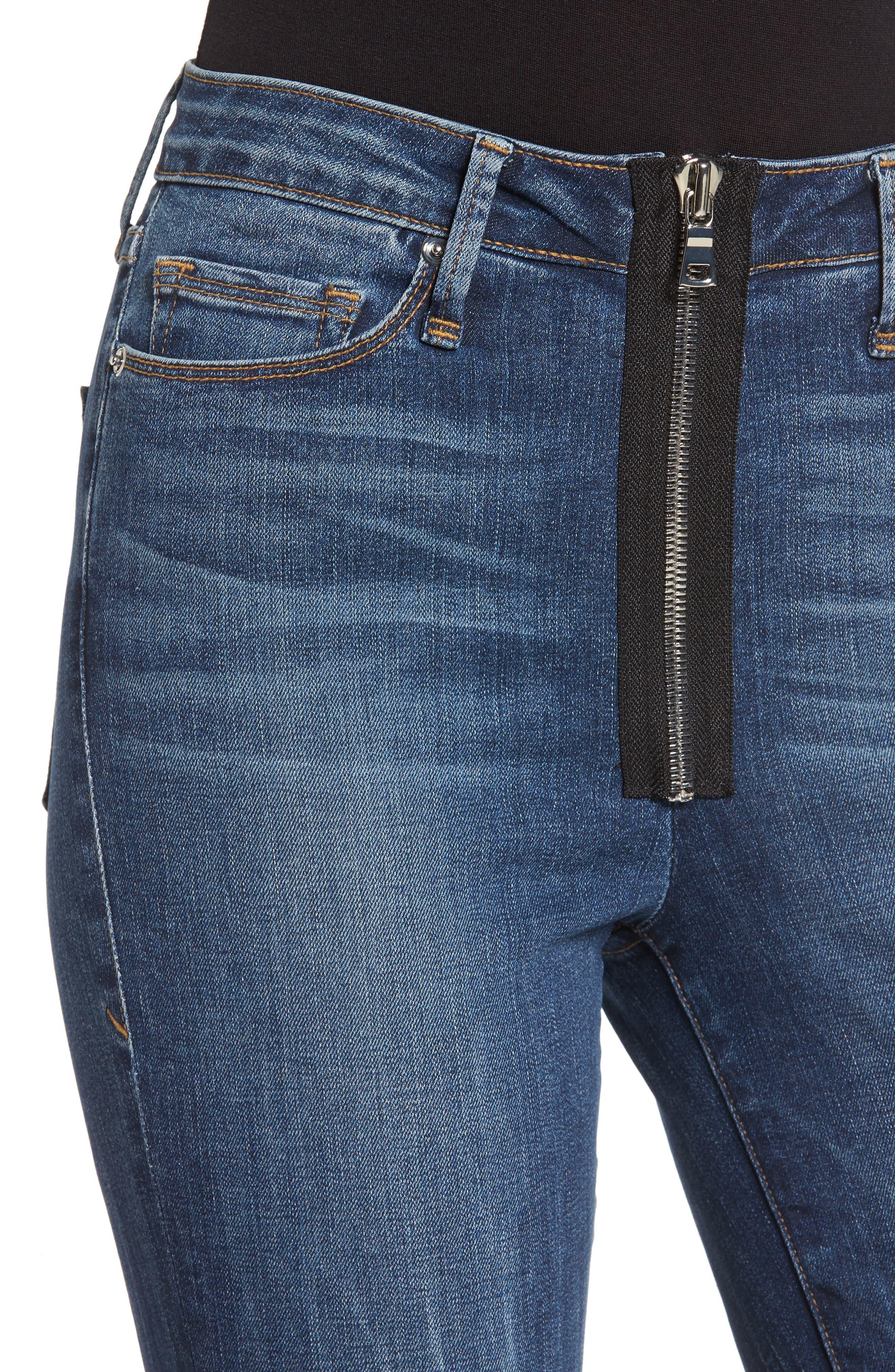 Good Waist High Rise Ankle Jeans,                             Alternate thumbnail 4, color,                             402