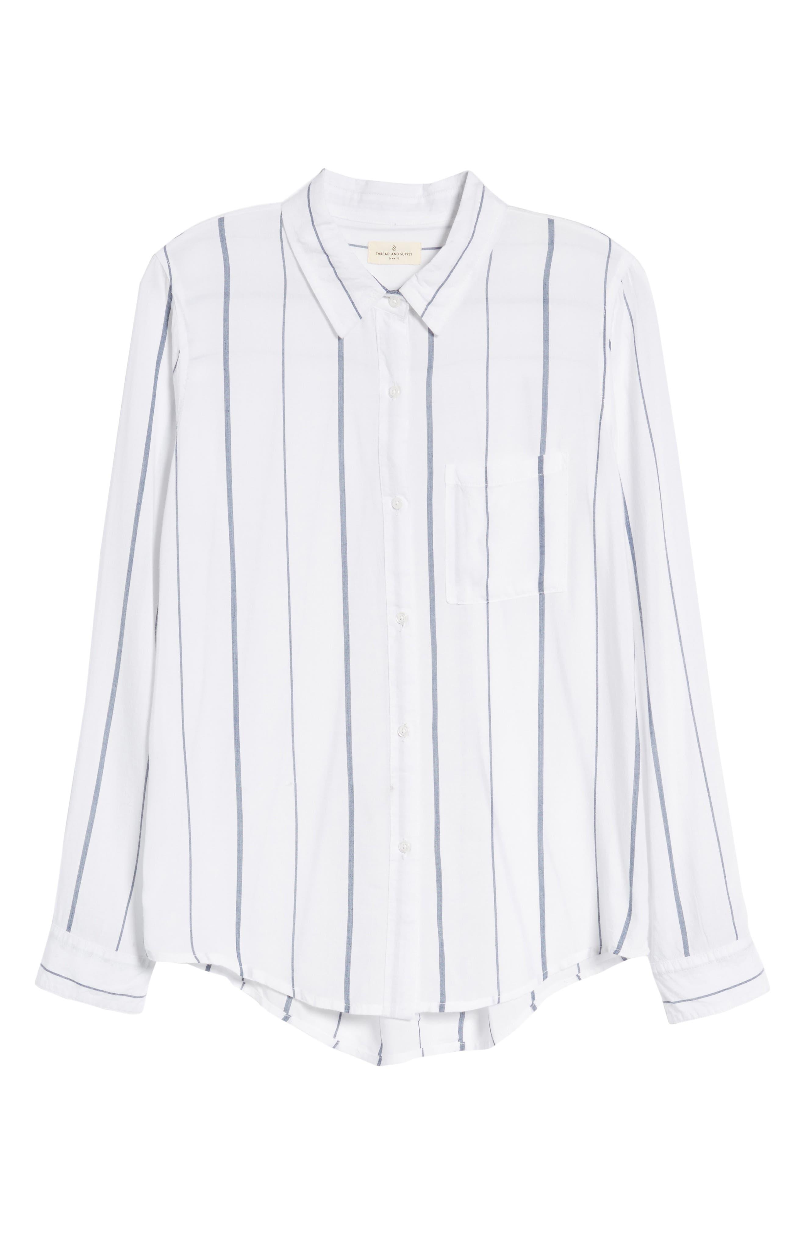 Canyons Stripe Shirt,                             Alternate thumbnail 6, color,                             100