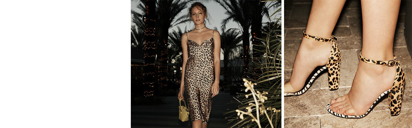 Wild things: animal-print dresses and shoes.